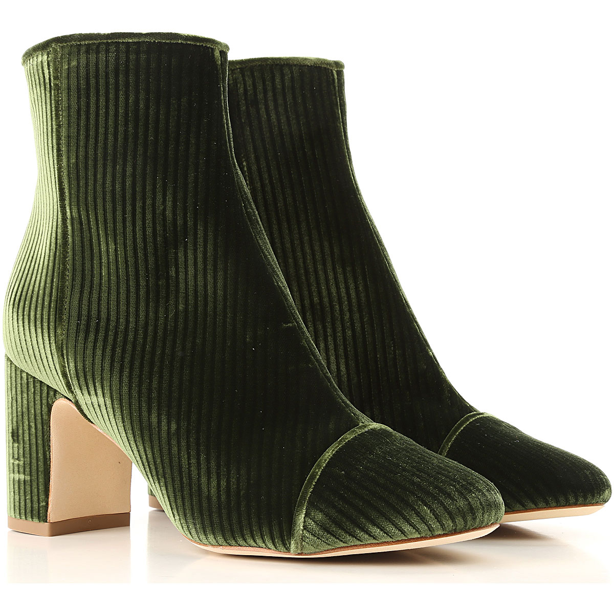 Image of Polly Plume Boots for Women, Booties, Green, Velvet, 2017, 10 6 7 8 9