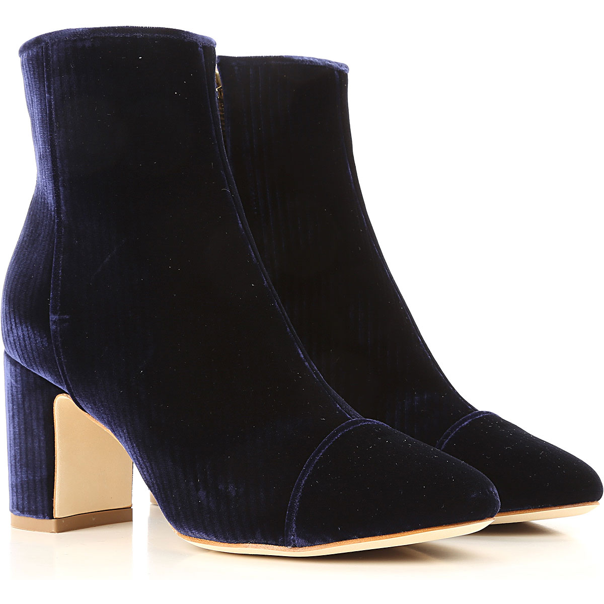 Image of Polly Plume Boots for Women, Booties, navy, Velvet, 2017, 10 6 7 8 9
