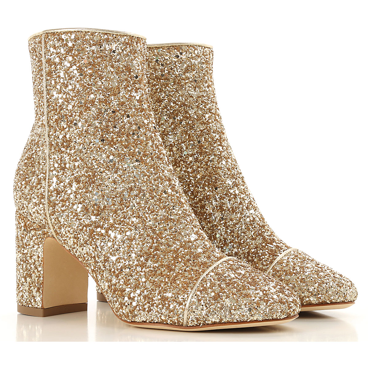 Image of Polly Plume Boots for Women, Booties, Gold, Glitter, 2017, 10 6 7 8