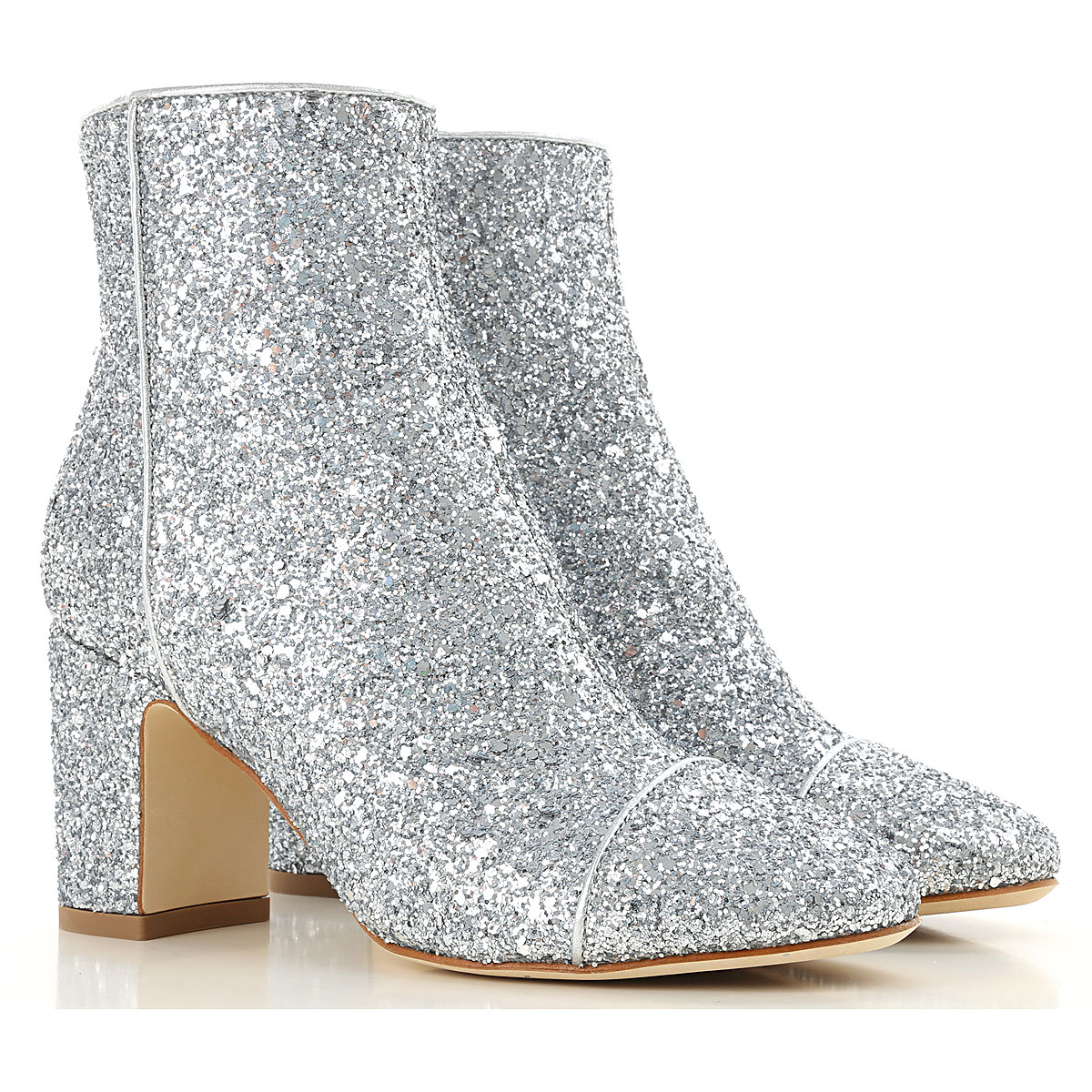 Image of Polly Plume Boots for Women, Booties, Silver, Glitter, 2017, 10 6 7 8 9