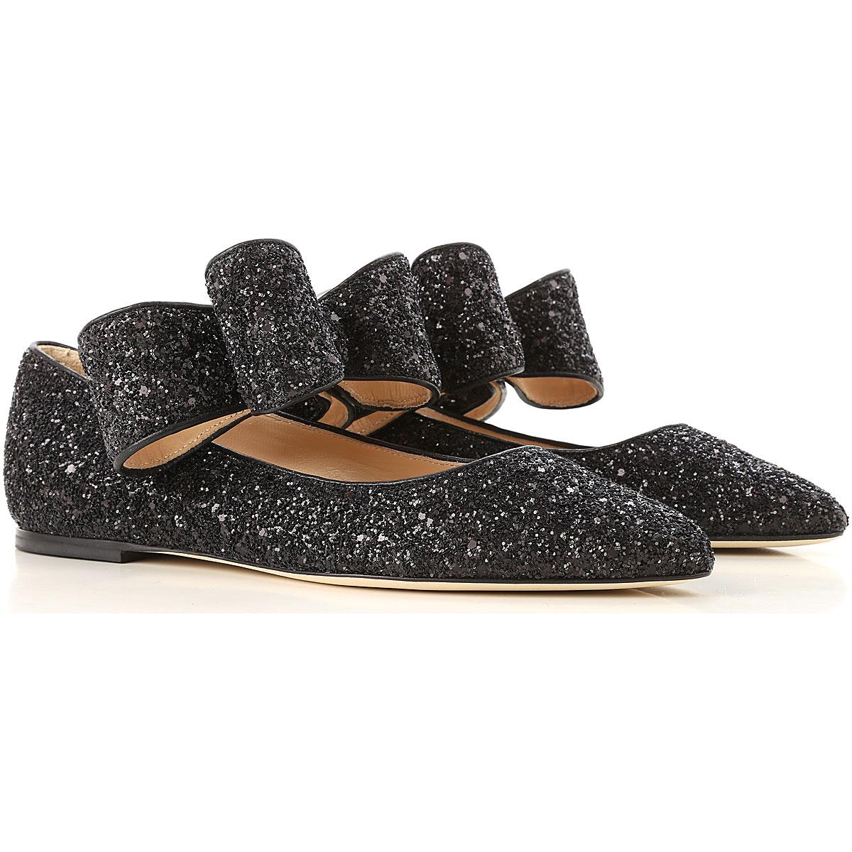 Image of Polly Plume Ballet Flats Ballerina Shoes for Women, Black, Glitter, 2017, 10 5 6 7 8 9