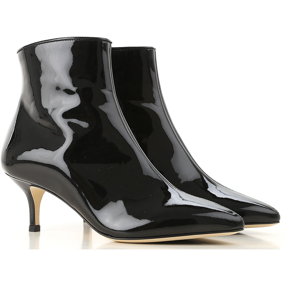 Image of Polly Plume Boots for Women, Booties, Black, Patent, 2017, 10 6 7 8