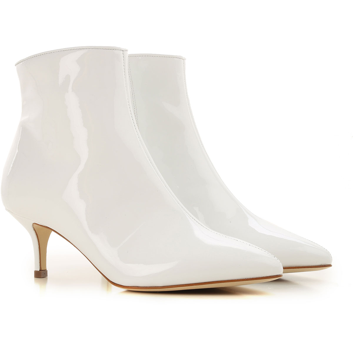 Image of Polly Plume Boots for Women, Booties, White Snow, Patent, 2017, 6 7 8 9