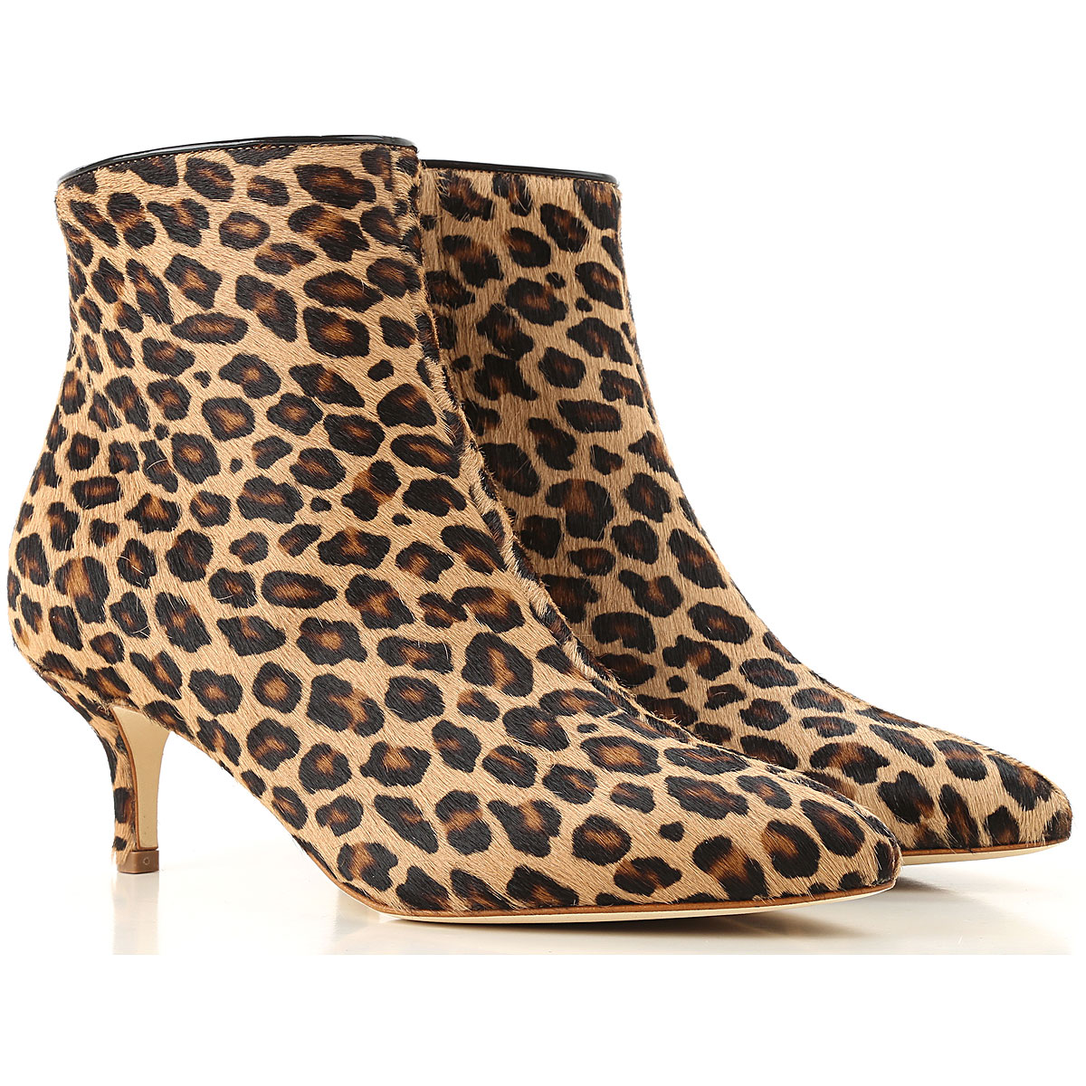 Image of Polly Plume Boots for Women, Booties, Camel, Fur, 2017, 10 6 7 8 9