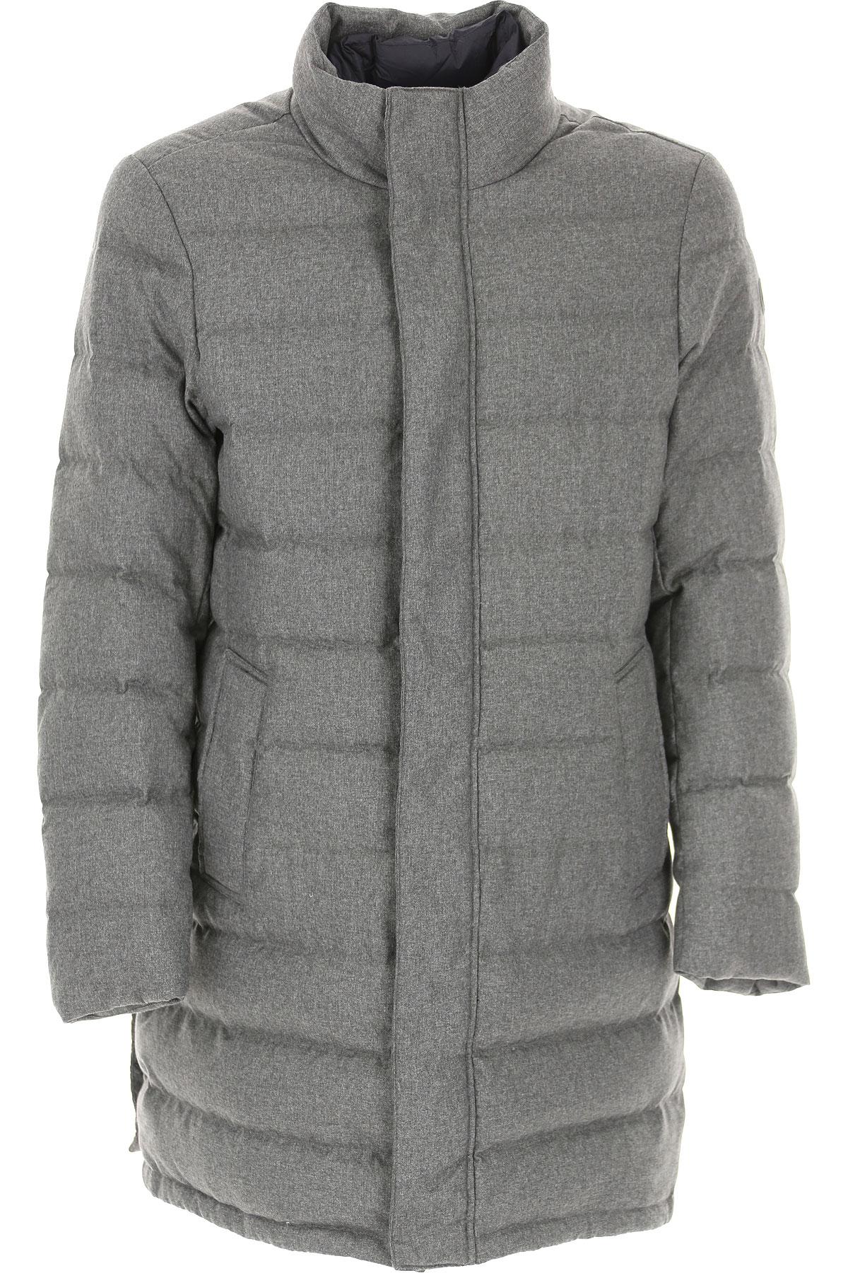 People of Shibuya Down Jacket for Men, Puffer Ski Jacket On Sale, Medium Grey, polyamide, 2019, L M XL XXL