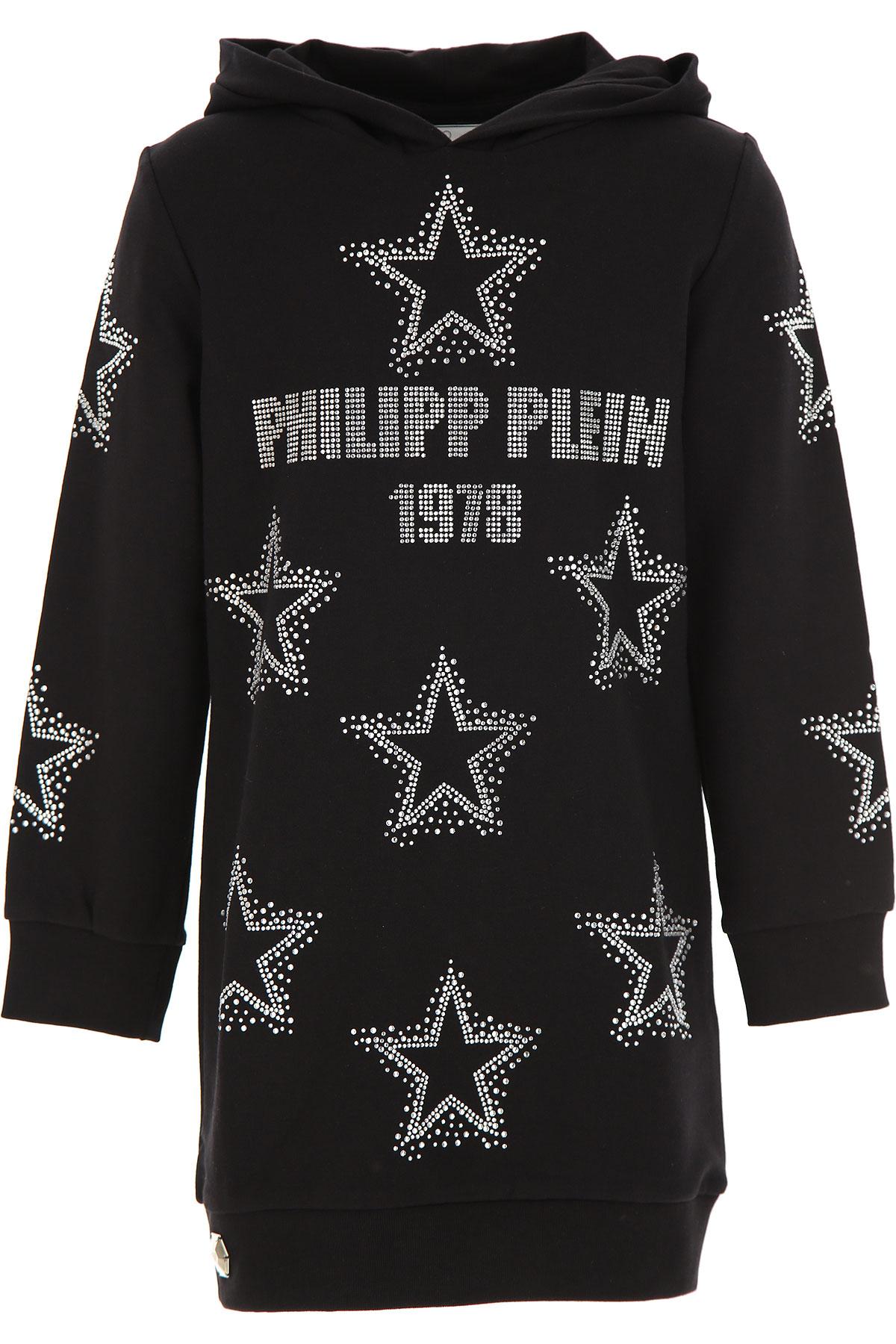 Philipp Plein Kids Sweatshirts & Hoodies for Girls On Sale, Black, Cotton, 2019, 10Y 14Y 8Y