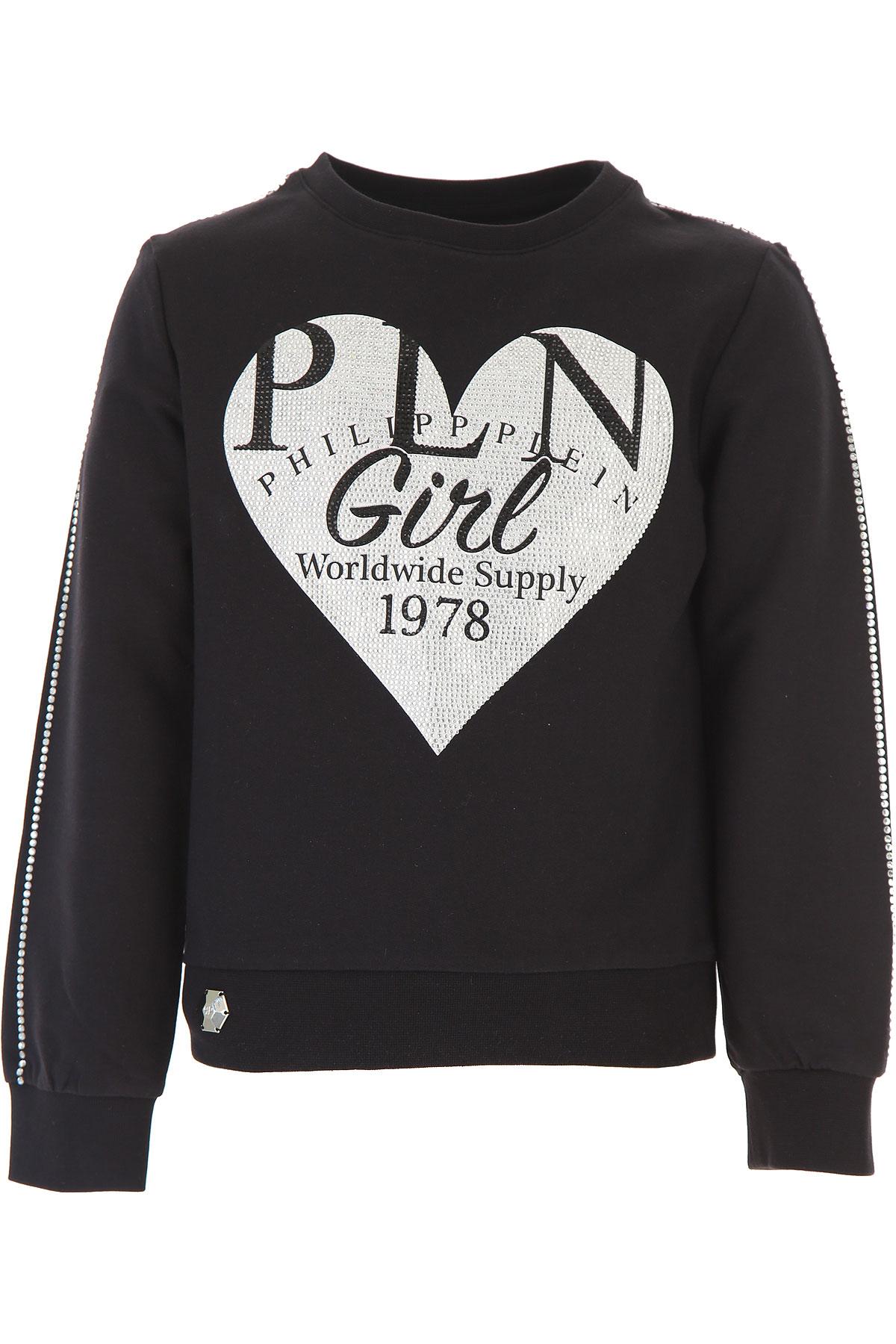 Philipp Plein Kids Sweatshirts & Hoodies for Girls On Sale, Black, Cotton, 2019, 10Y 12Y 14Y 16Y 8Y
