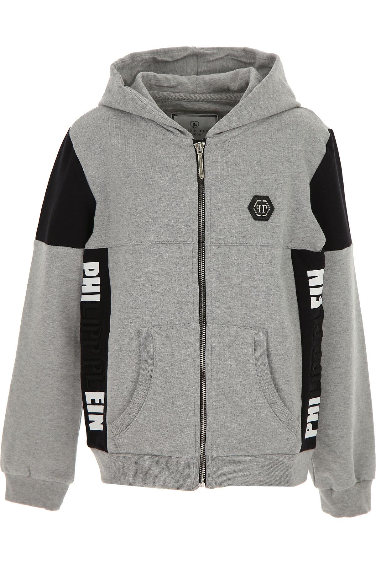 Philipp Plein Kids Sweatshirts & Hoodies for Boys On Sale, Grey, Cotto, 2019, 10Y 12Y 14Y 8Y