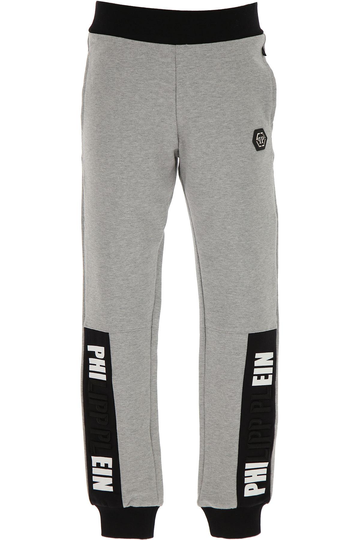 Philipp Plein Kids Sweatpants for Boys On Sale, Grey, Cotton, 2019, 10Y 12Y 14Y 16Y 8Y
