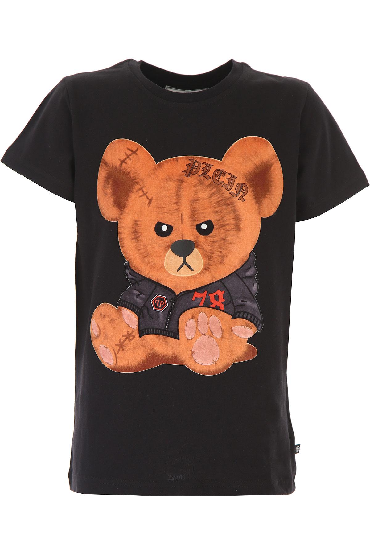 Philipp Plein Kids T-Shirt for Boys On Sale, Black, Cotton, 2019, 14Y 16Y