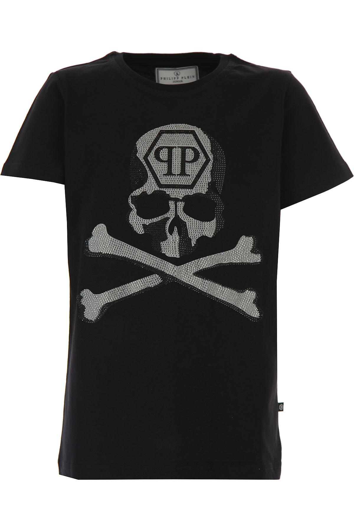 Philipp Plein Kids T-Shirt for Boys On Sale, Black, Cotton, 2019, 10Y 16Y 8Y