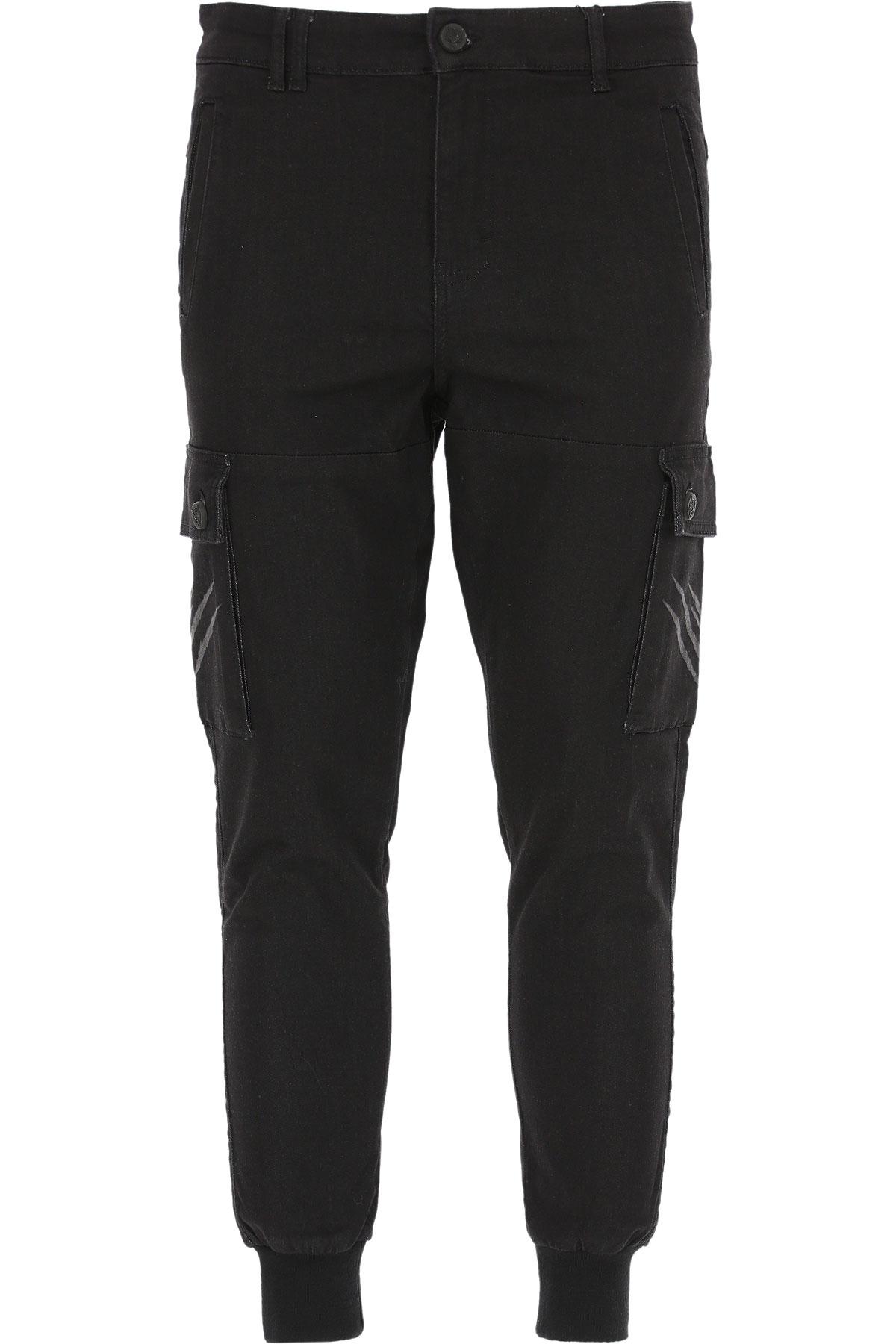 Philipp Plein Jeans On Sale, Black, Cotton, 2019, XL