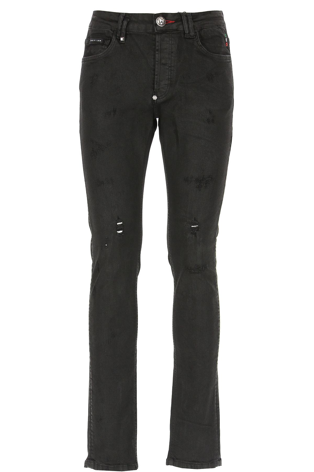 Philipp Plein Jeans On Sale, Black, Cotton, 2019, 31 32 33