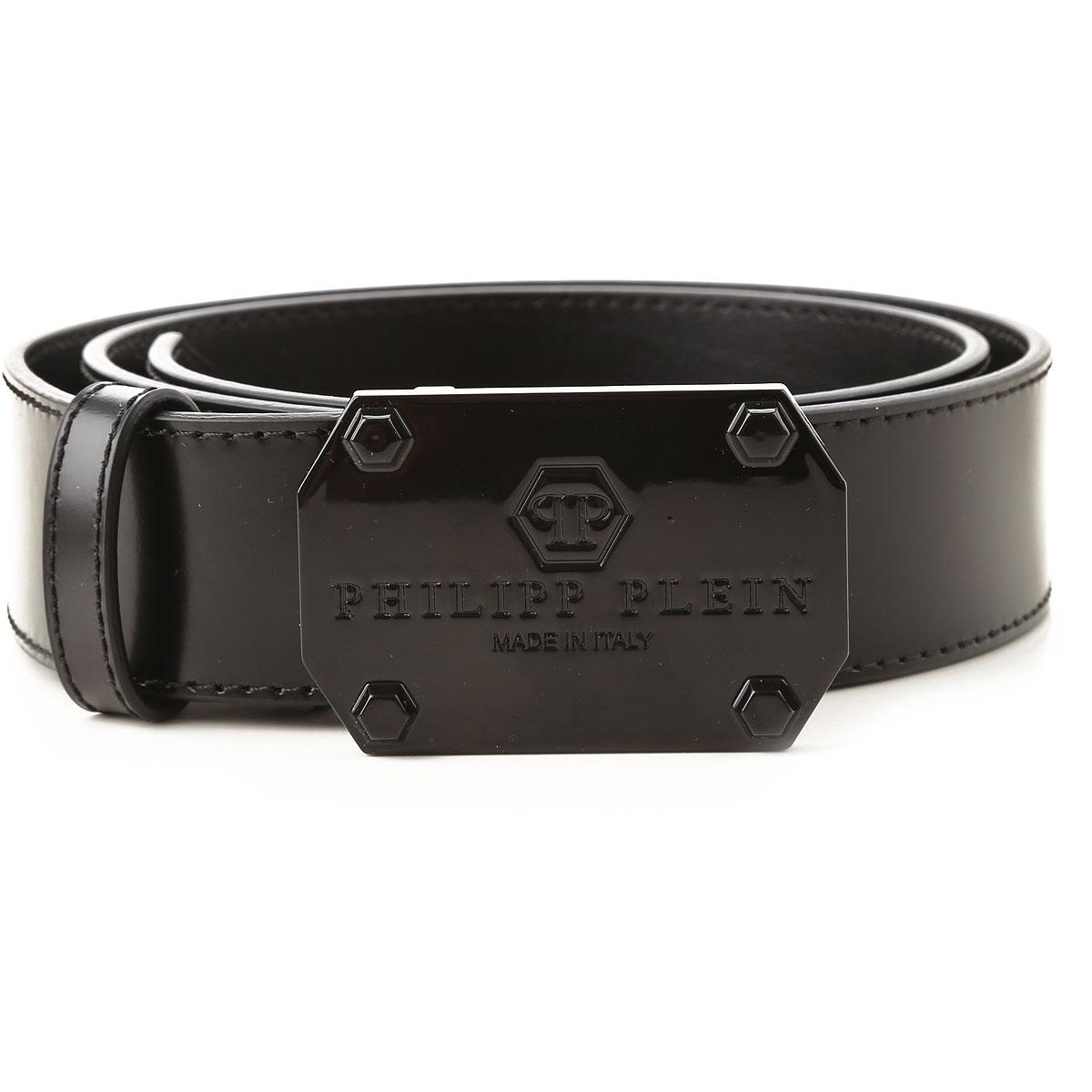 Philipp Plein Belts On Sale, Black, Leather, 2019, 42 44
