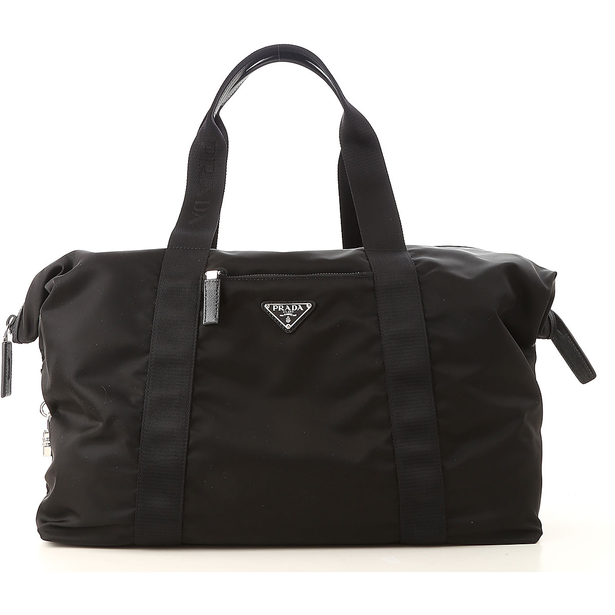 Prada Weekender Duffel Bag for Men On Sale, Black, Nylon, 2019