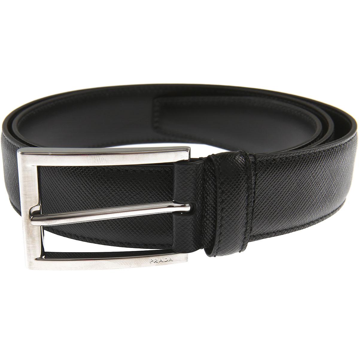 Prada Belts On Sale, Black, Leather, 2019, 40 42