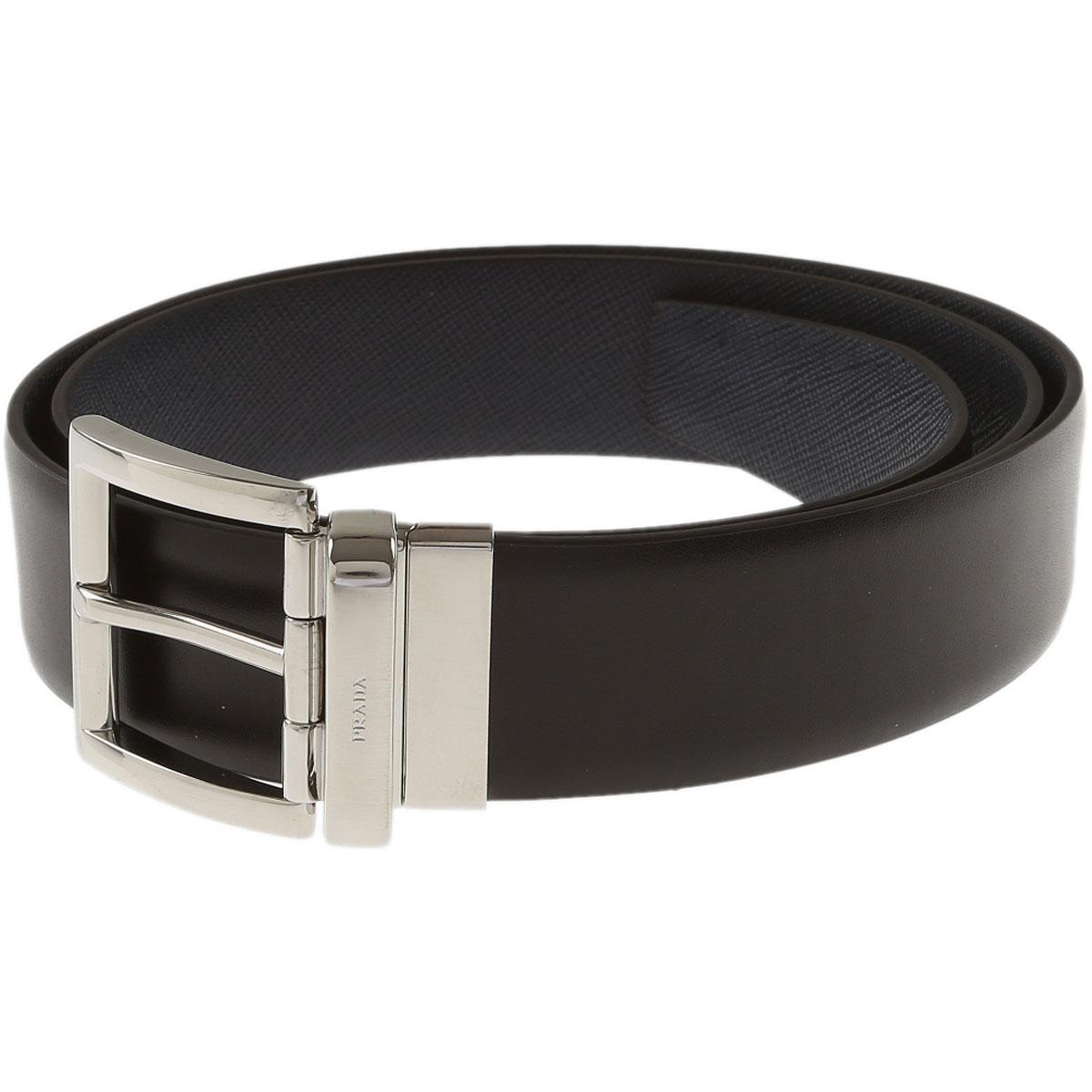 Prada Belts On Sale, Reversible, Black, Leather, 2019, 36 38 40