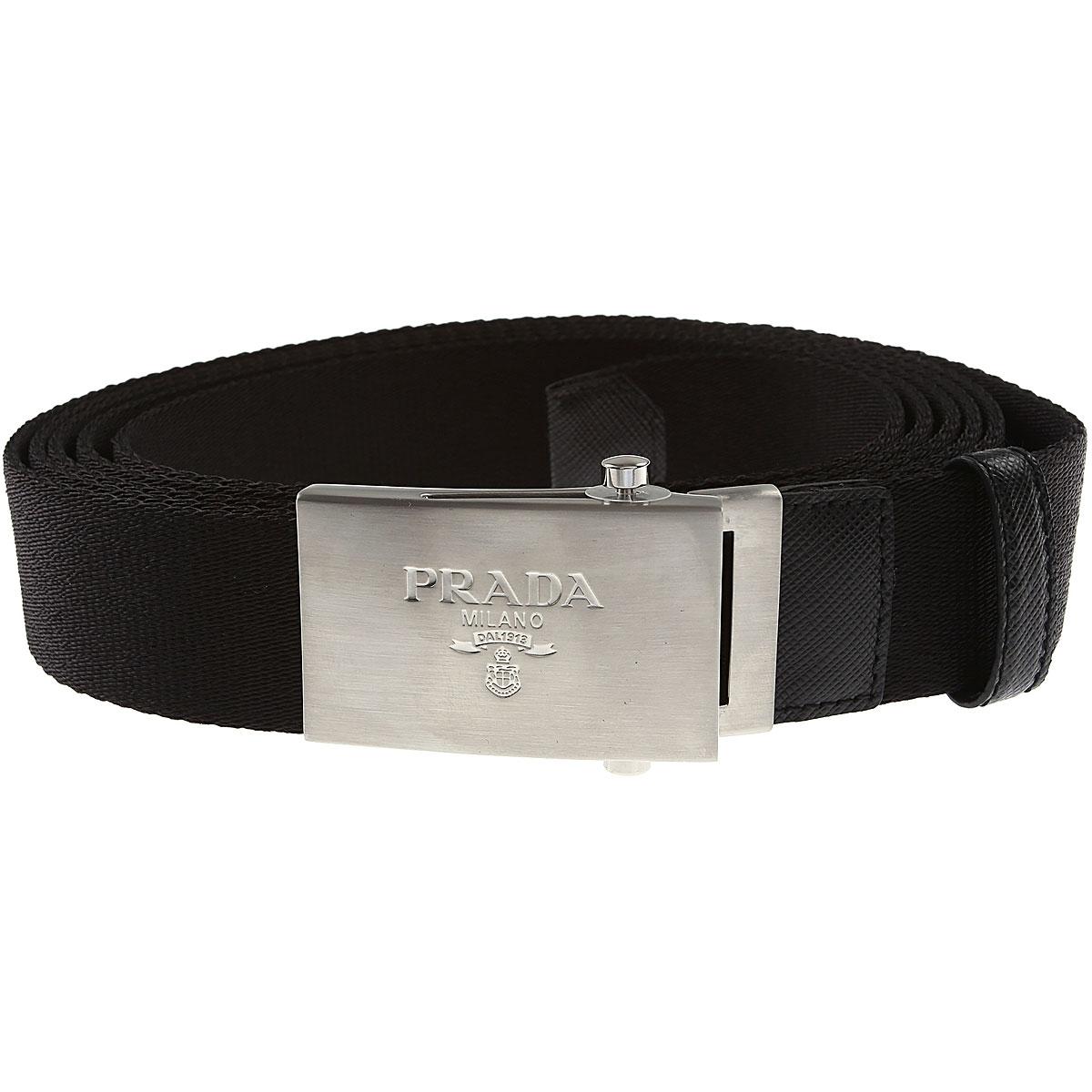 Prada Belts On Sale, Black, Fabric, 2019, 32 34 36 38 40