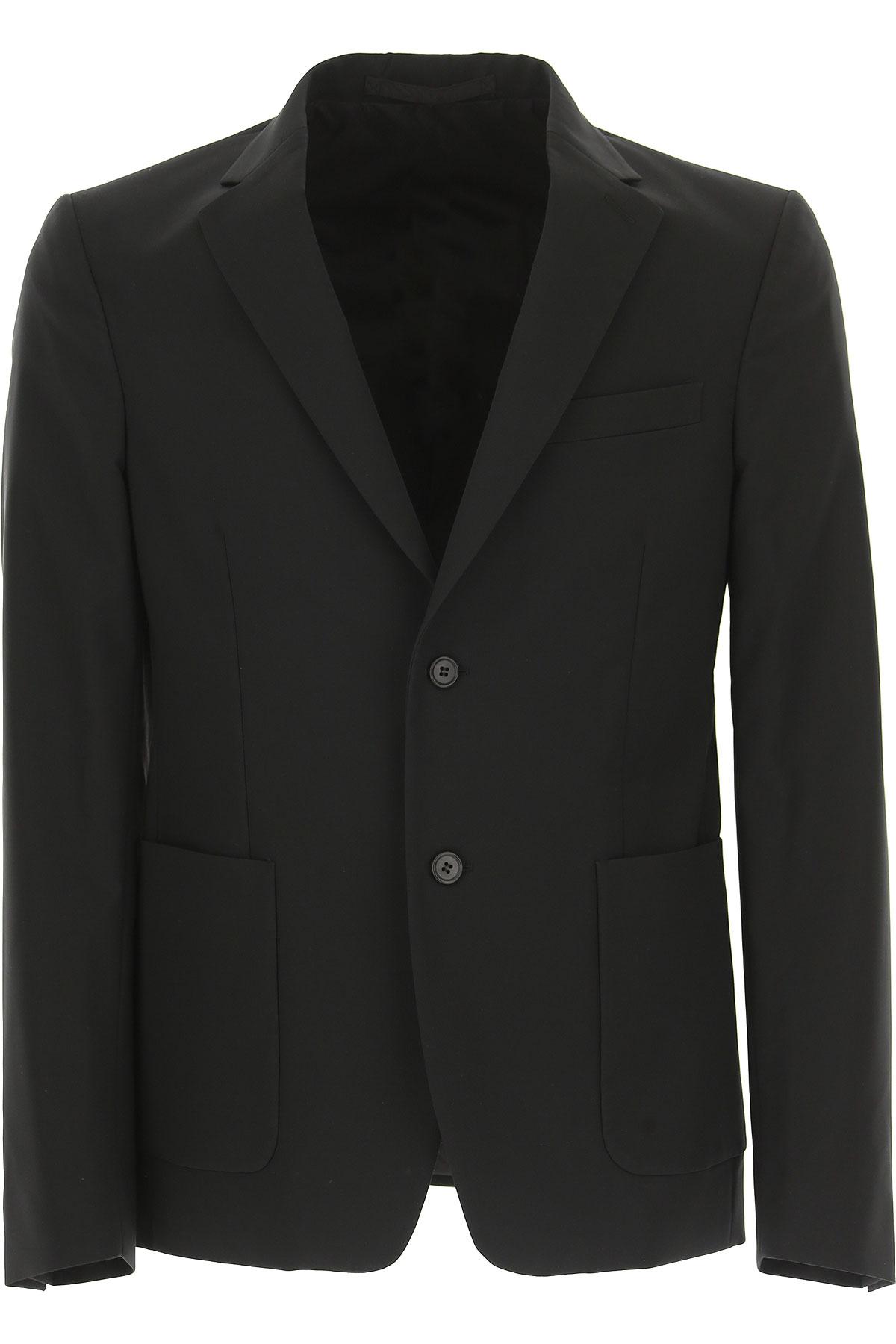 Prada Blazer for Men, Sport Coat On Sale in Outlet, Black, polyester, 2019, L M