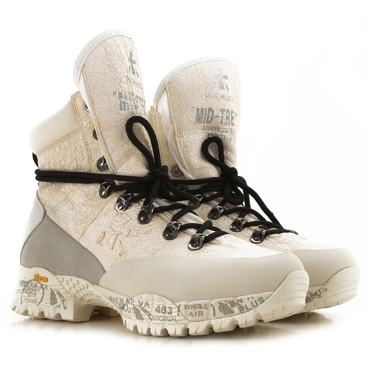 Premiata Boots for Women, Booties On Sale, White, Leather, 2019, 6 7 9