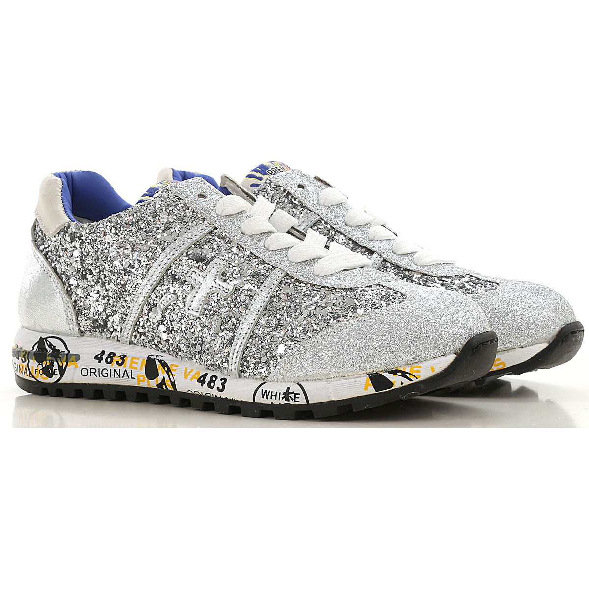 Premiata Kids Shoes for Girls On Sale, Silver, Leather, 2019, 31 32
