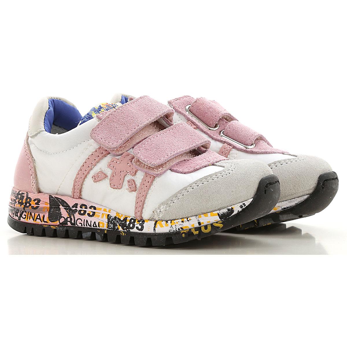 Premiata Kids Shoes for Girls On Sale, White, Nylon, 2019, 30 31 32 33 34