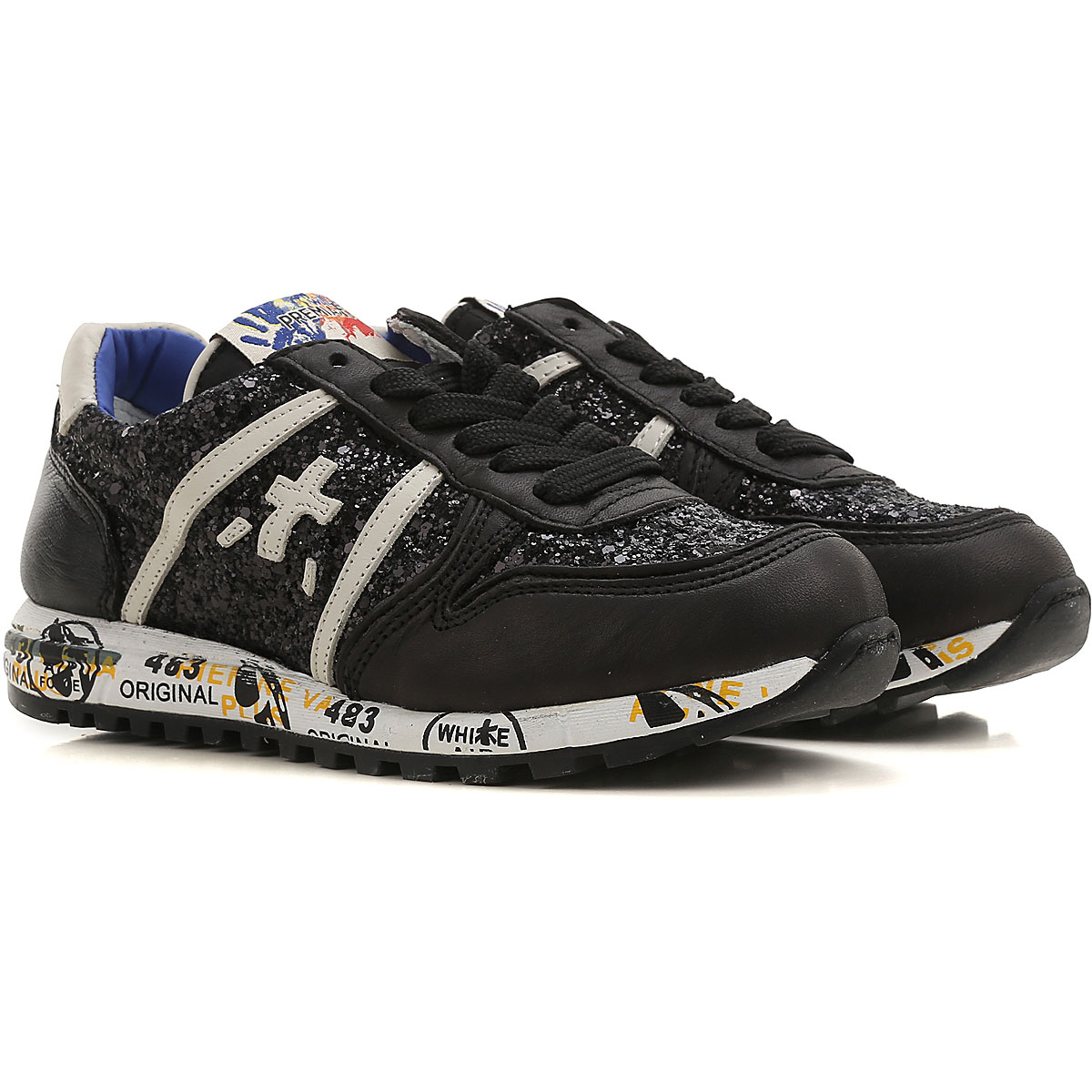 Premiata Kids Shoes for Girls On Sale, Black, Leather, 2019, 31 35