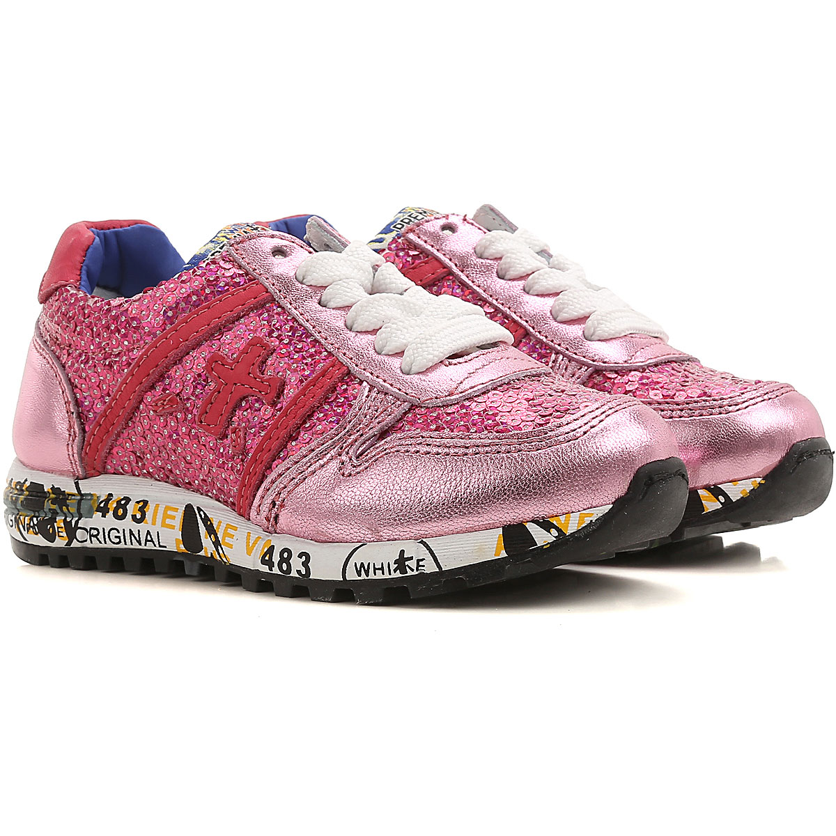 Premiata Kids Shoes for Girls On Sale, fuxia, Leather, 2019, 28 30 34