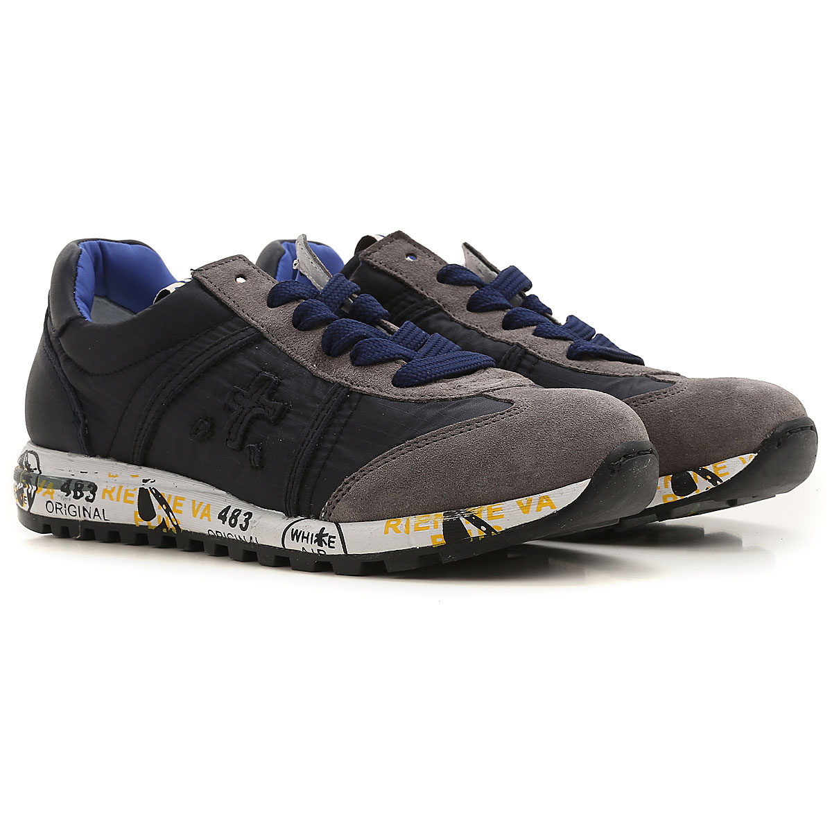 Premiata Kids Shoes for Boys On Sale, Blue, Nylon, 2019, 29 30 32 34