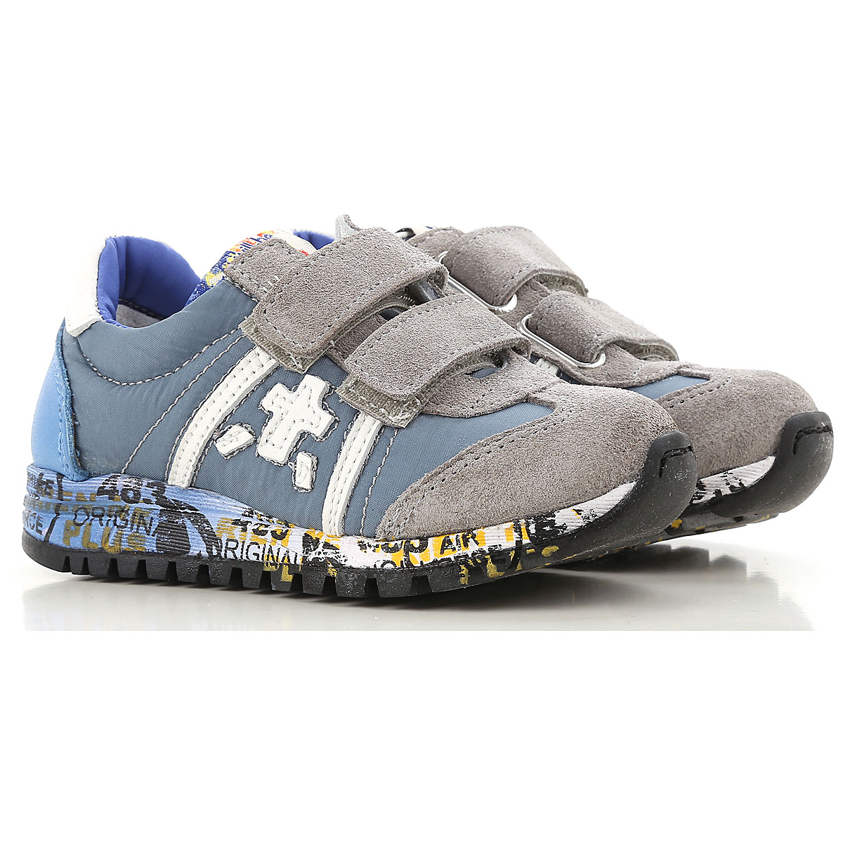 Premiata Kids Shoes for Boys, Grey, Suede leather, 2019, 20 21 24