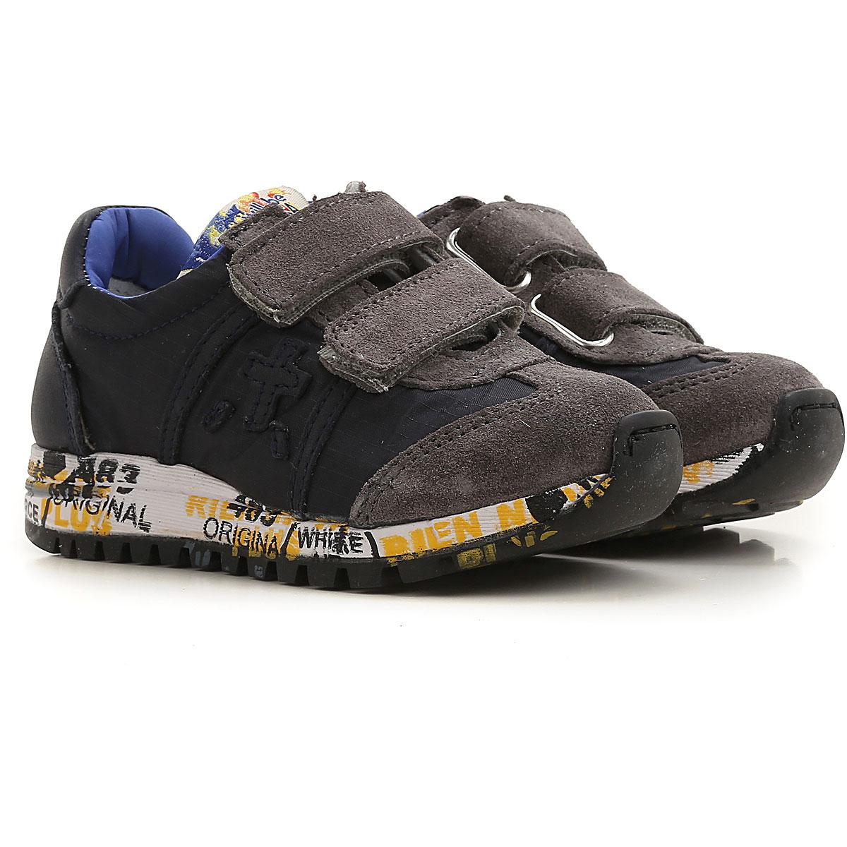 Premiata Kids Shoes for Boys On Sale, Blue, Nylon, 2019, 20 21 22 24