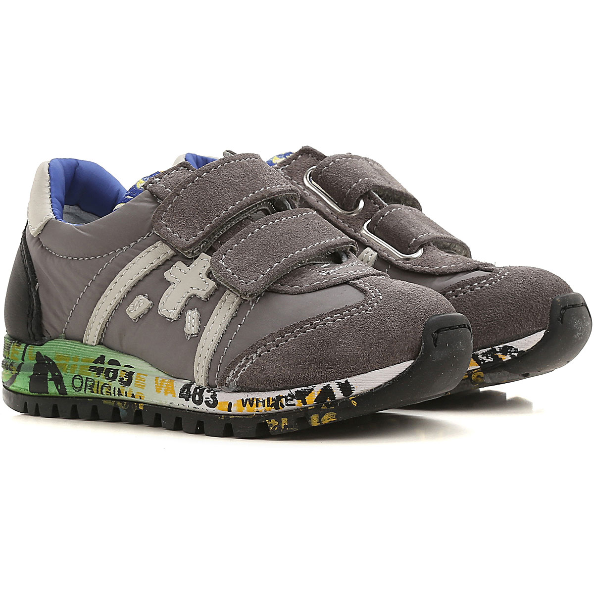Premiata Kids Shoes for Boys On Sale, Grey, Suede leather, 2019, 20 21 22 28 29 30