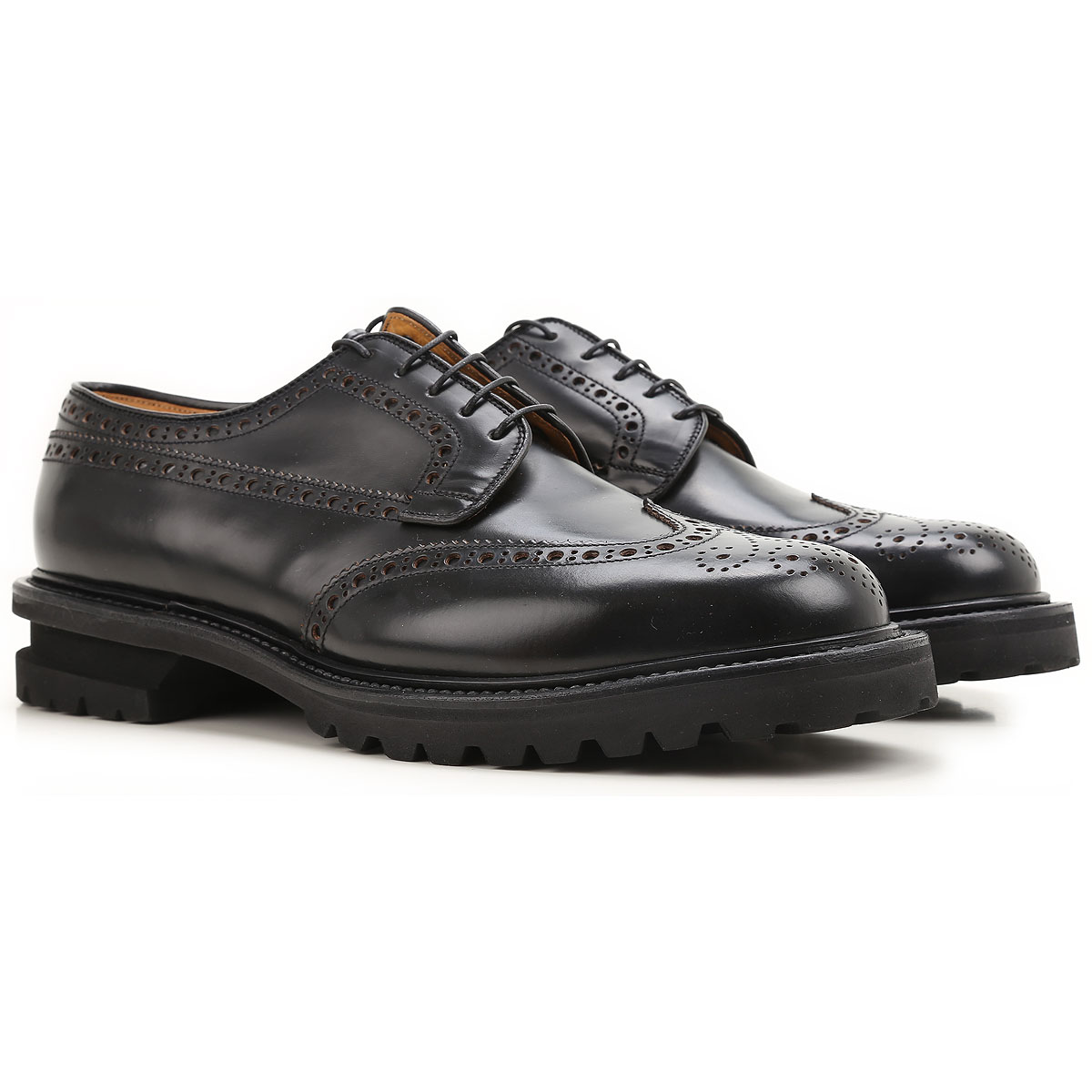 Image of Premiata Brogue Shoes On Sale in Outlet, Black, Leather, 2017, 10 11 7 8 8.5 9 9.5
