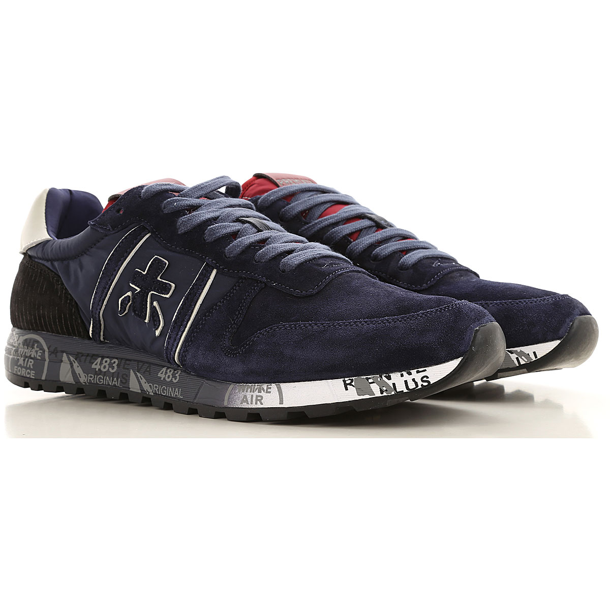 Premiata Mens Shoes, Ink Blue, Suede leather, 2019, 10 11.5 7.5 8 9