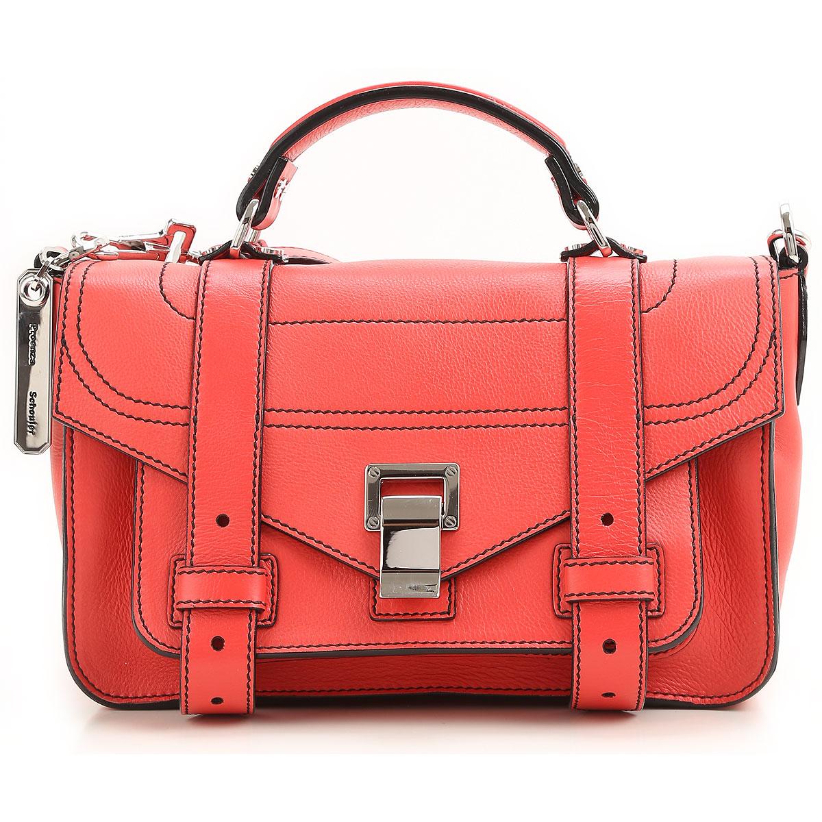 Image of Proenza Schouler Messenger Bag for Women On Sale, Geranium, Leather, 2017