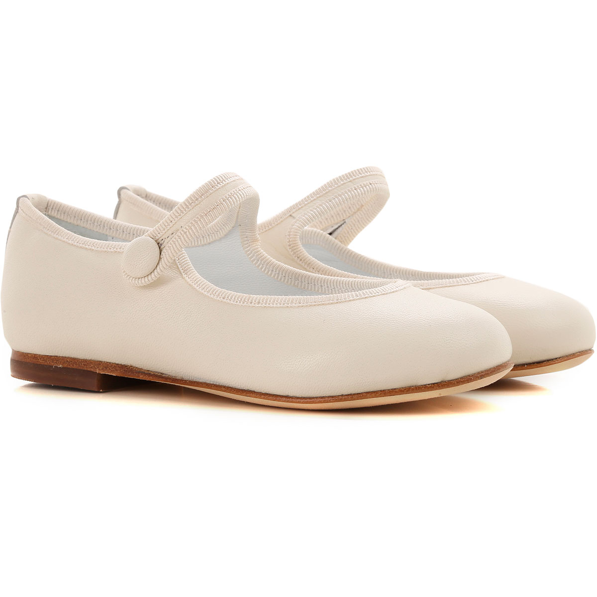 Image of Prosperine Kids Shoes for Girls, Ivory, Leather, 2017, 23 24 25 26 27 28 29 30 31 32 33 34 35