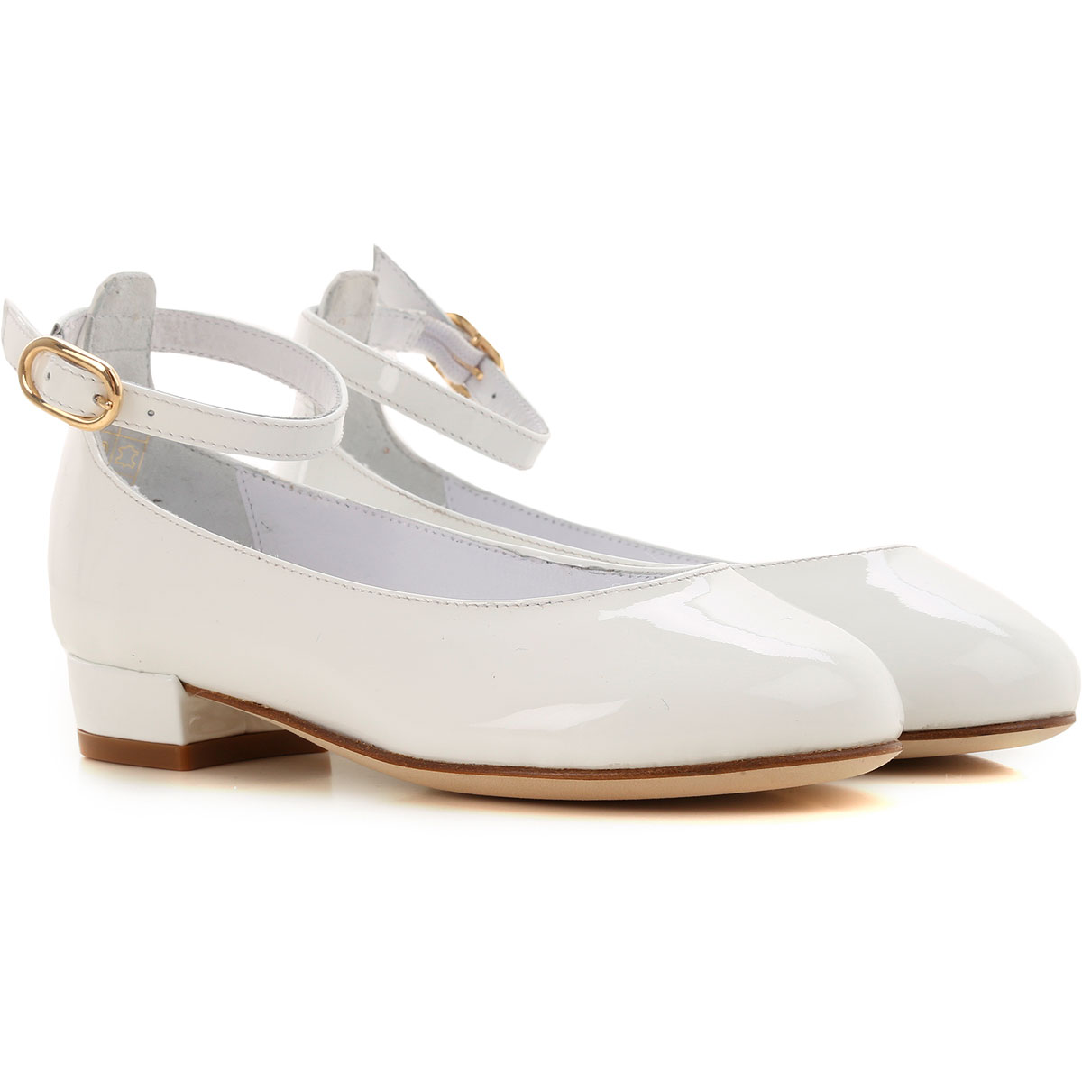 Image of Prosperine Kids Shoes for Girls, White, Leather, 2017, 24 25 26 27 28 29 30 31 32 33 34 35