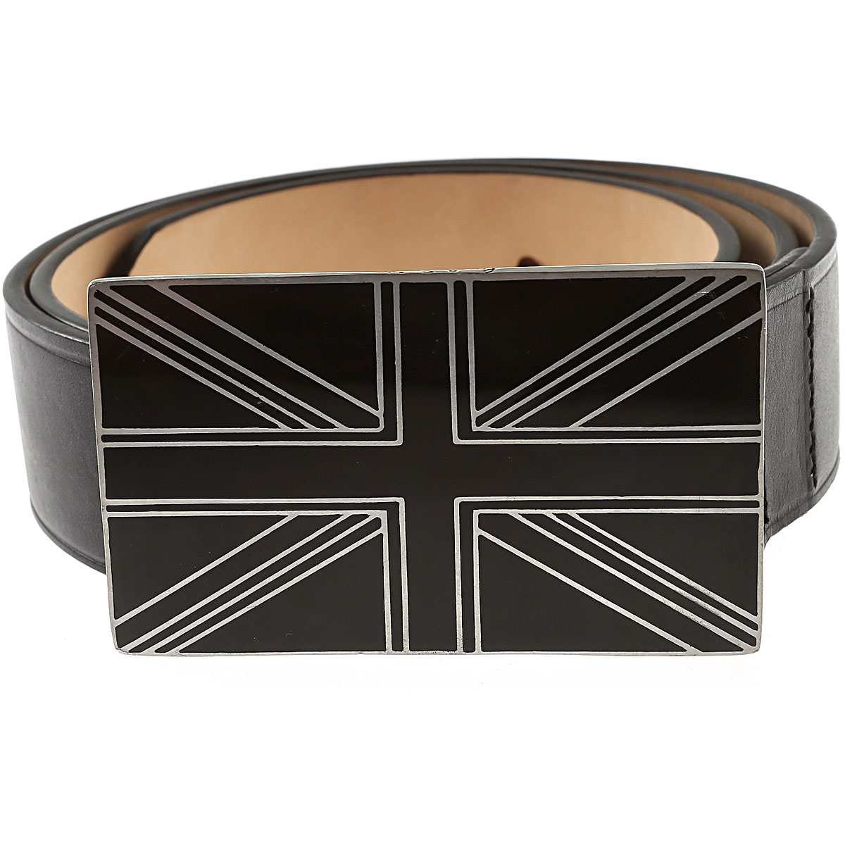 Paul Smith Mens Belts, Black, Leather, 2017, 36 38