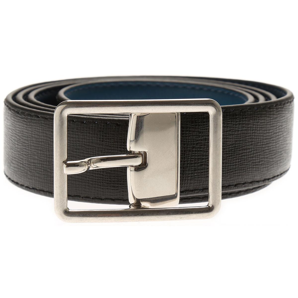 Paul Smith Mens Belts, Black, Leather, 2017, 38 40 42