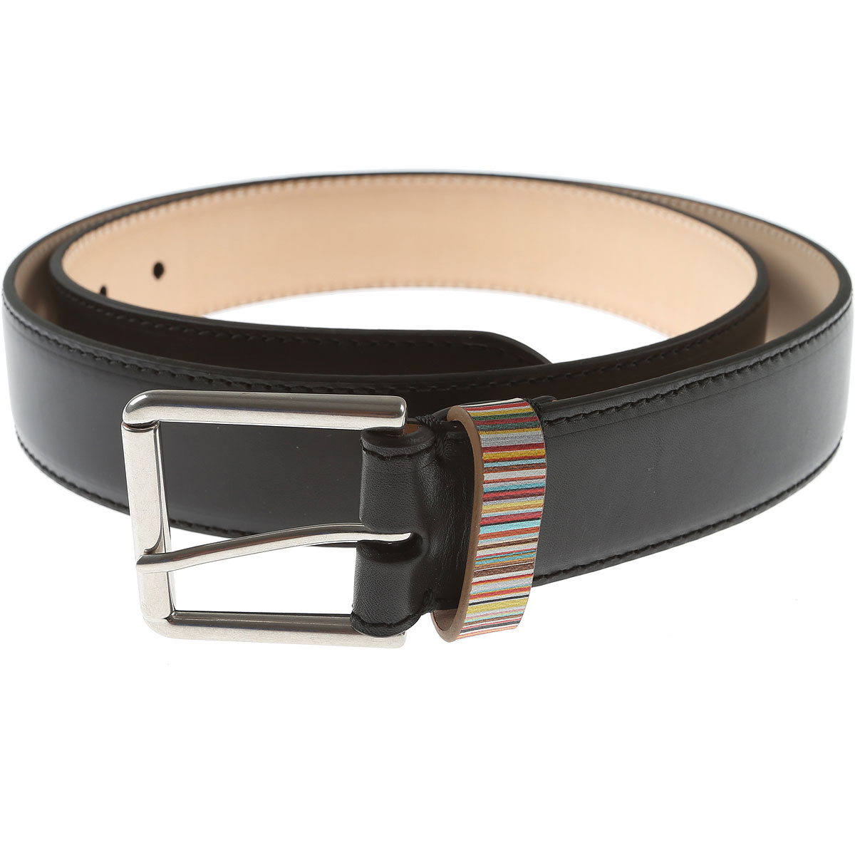 Paul Smith Mens Belts, Black, Leather, 2017, 36 38 40