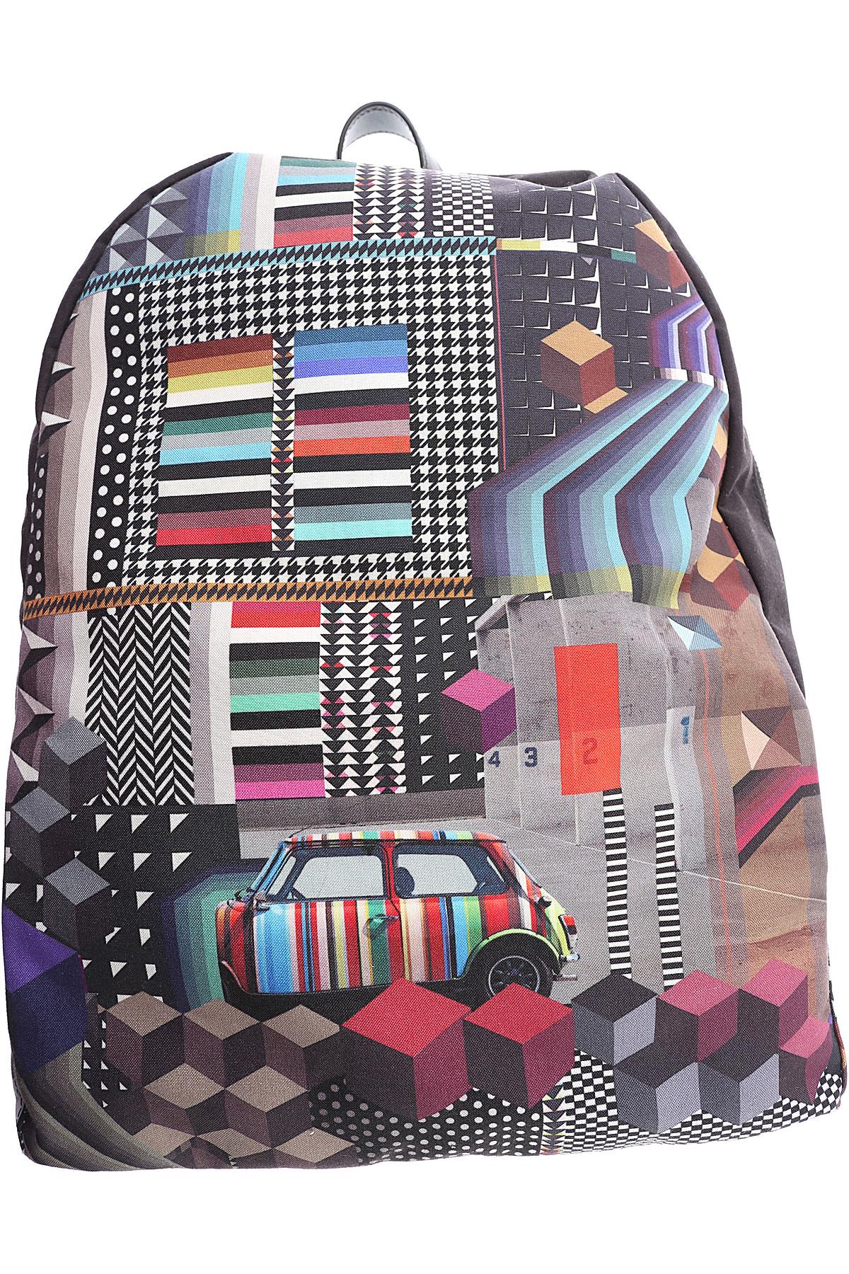 Image of Paul Smith Backpack for Men, Black, Nylon, 2017