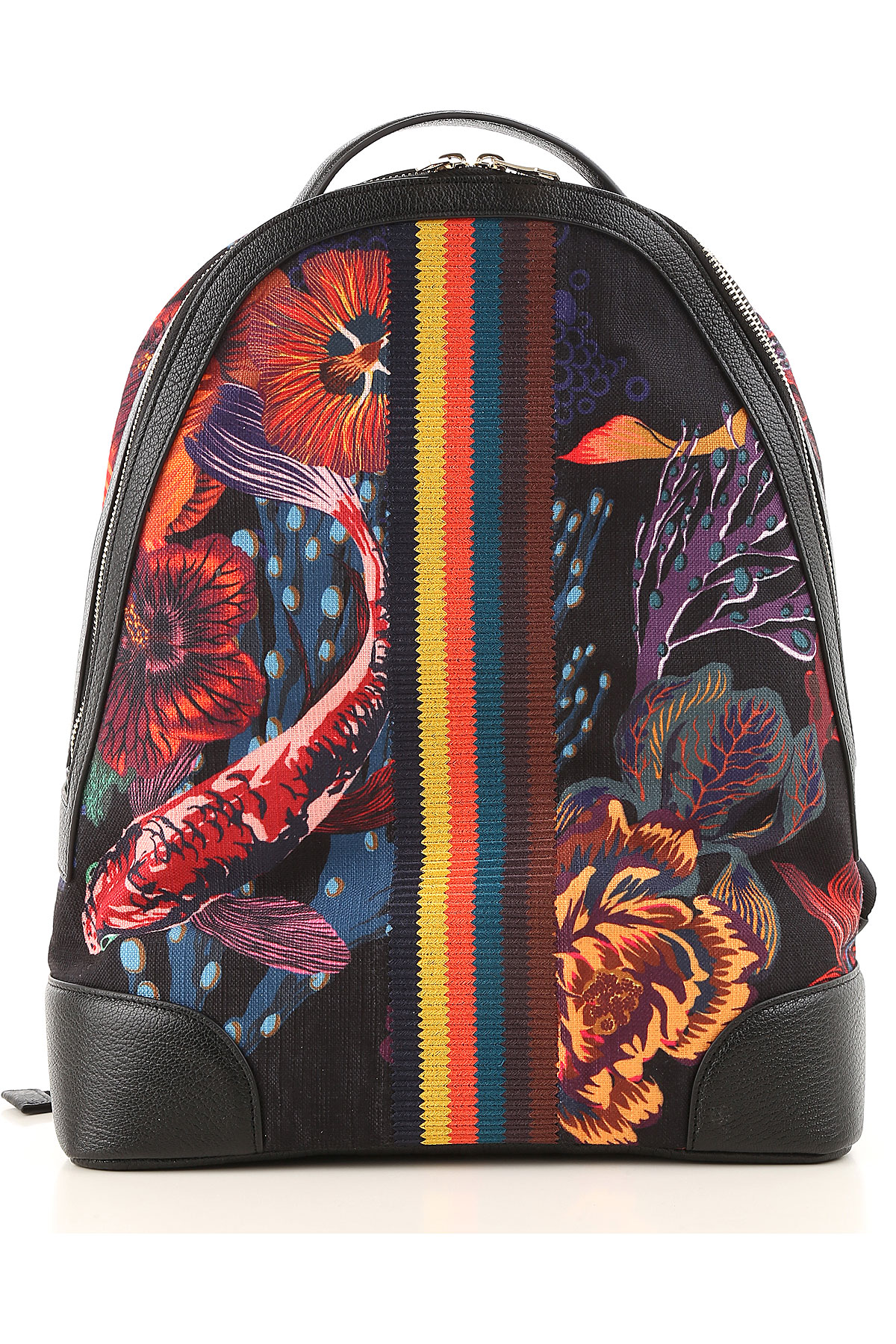 Image of Paul Smith Backpack for Men, Black, Canvas, 2017