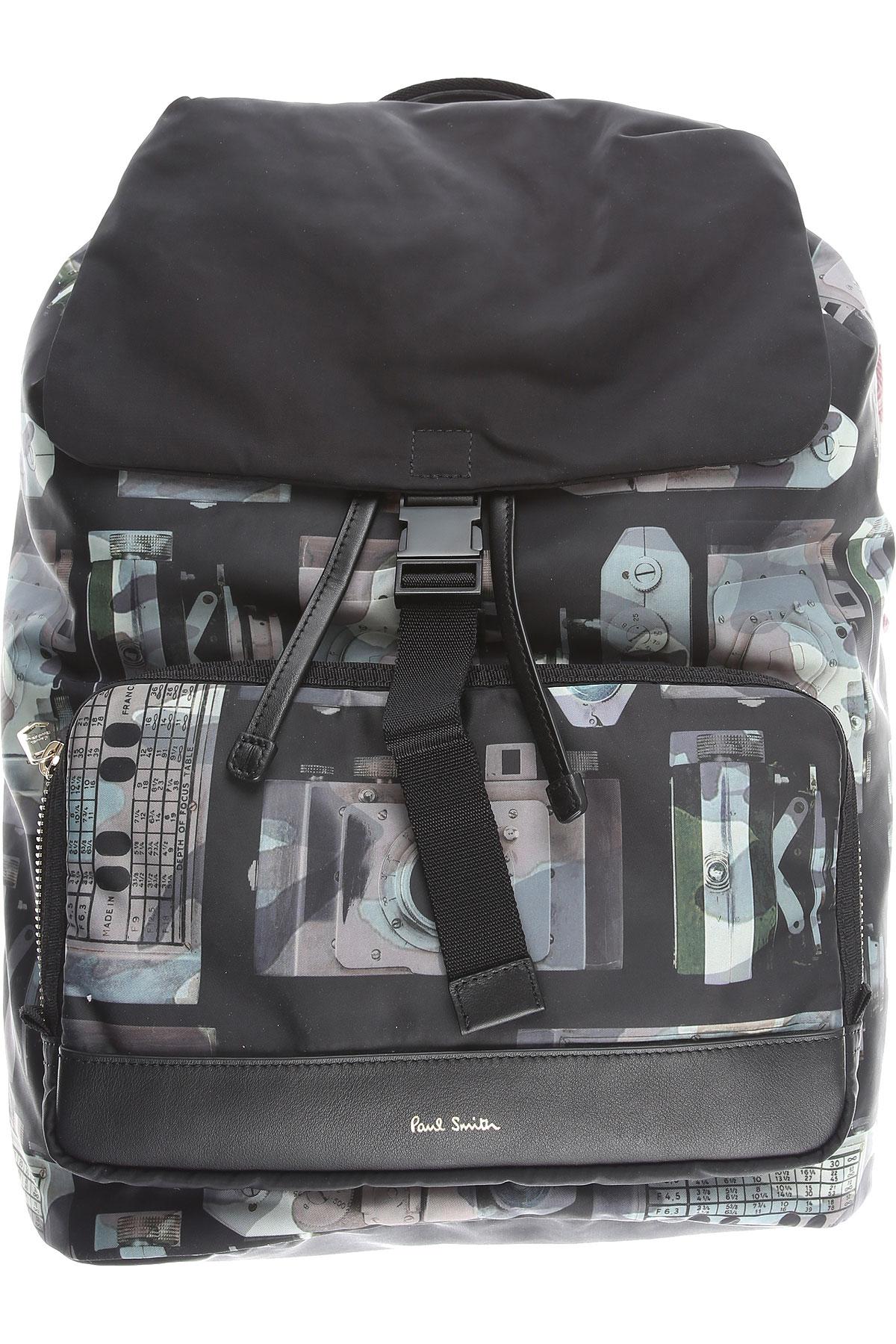 Paul Smith Backpack for Men On Sale, Black, polyamide, 2019