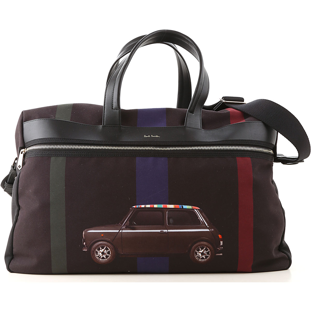Paul Smith Weekender Duffel Bag for Men On Sale, Black, polyestere, 2019