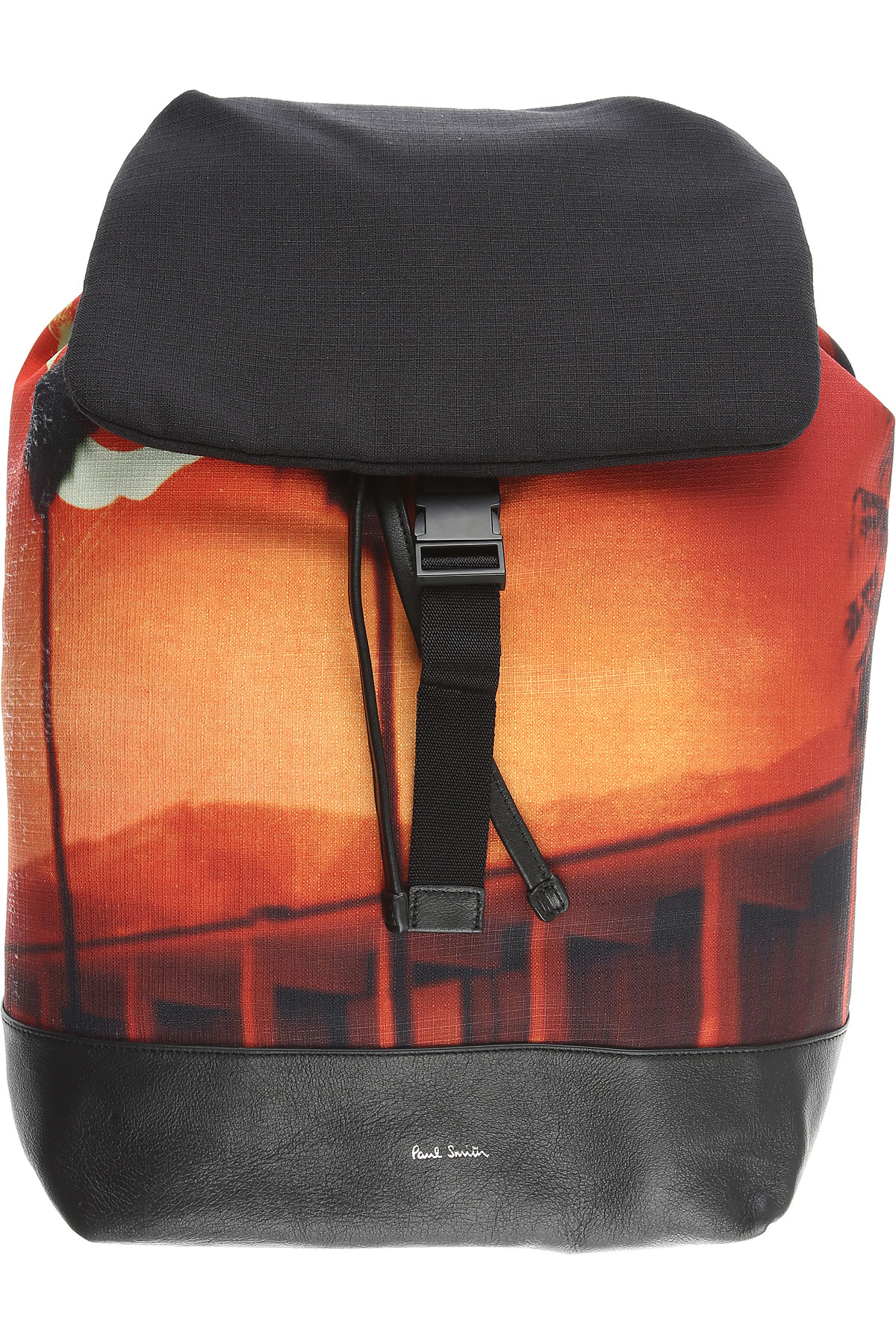 Paul Smith Backpack for Men On Sale, Black, Cotton, 2019