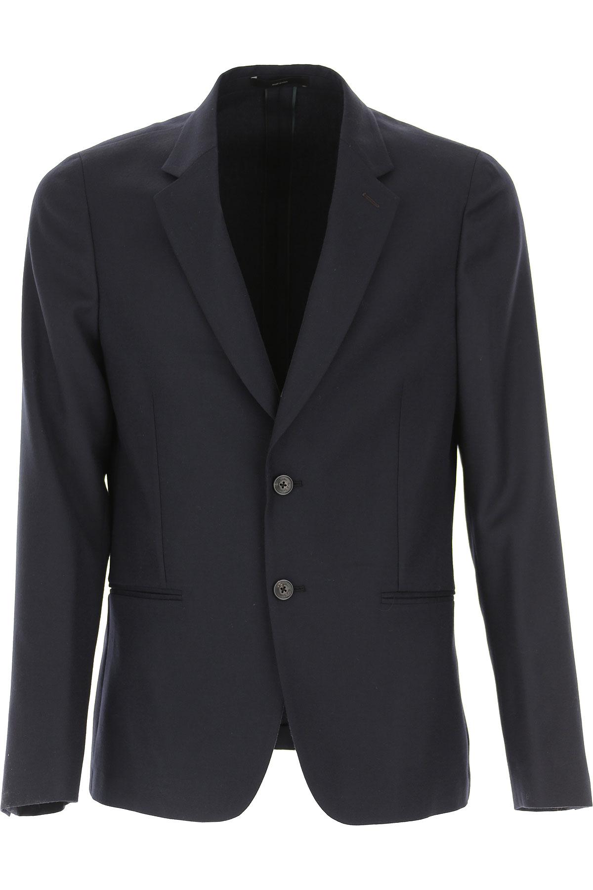Paul Smith Blazer for Men, Sport Coat On Sale, Black, Wool, 2019, L M XL XXL