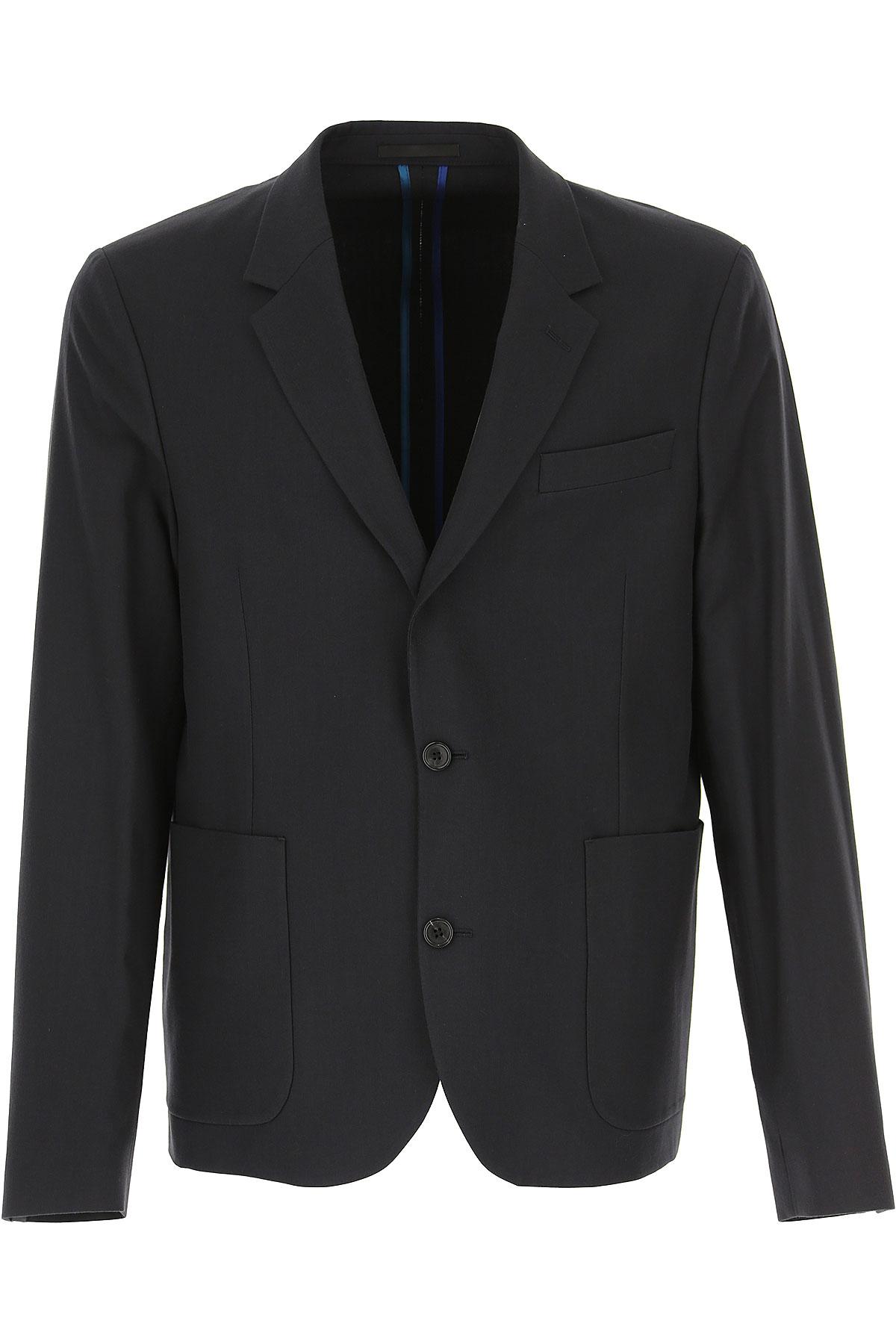 Paul Smith Blazer for Men, Sport Coat On Sale, Dark Blue Navy, Cotton, 2019, L M XL
