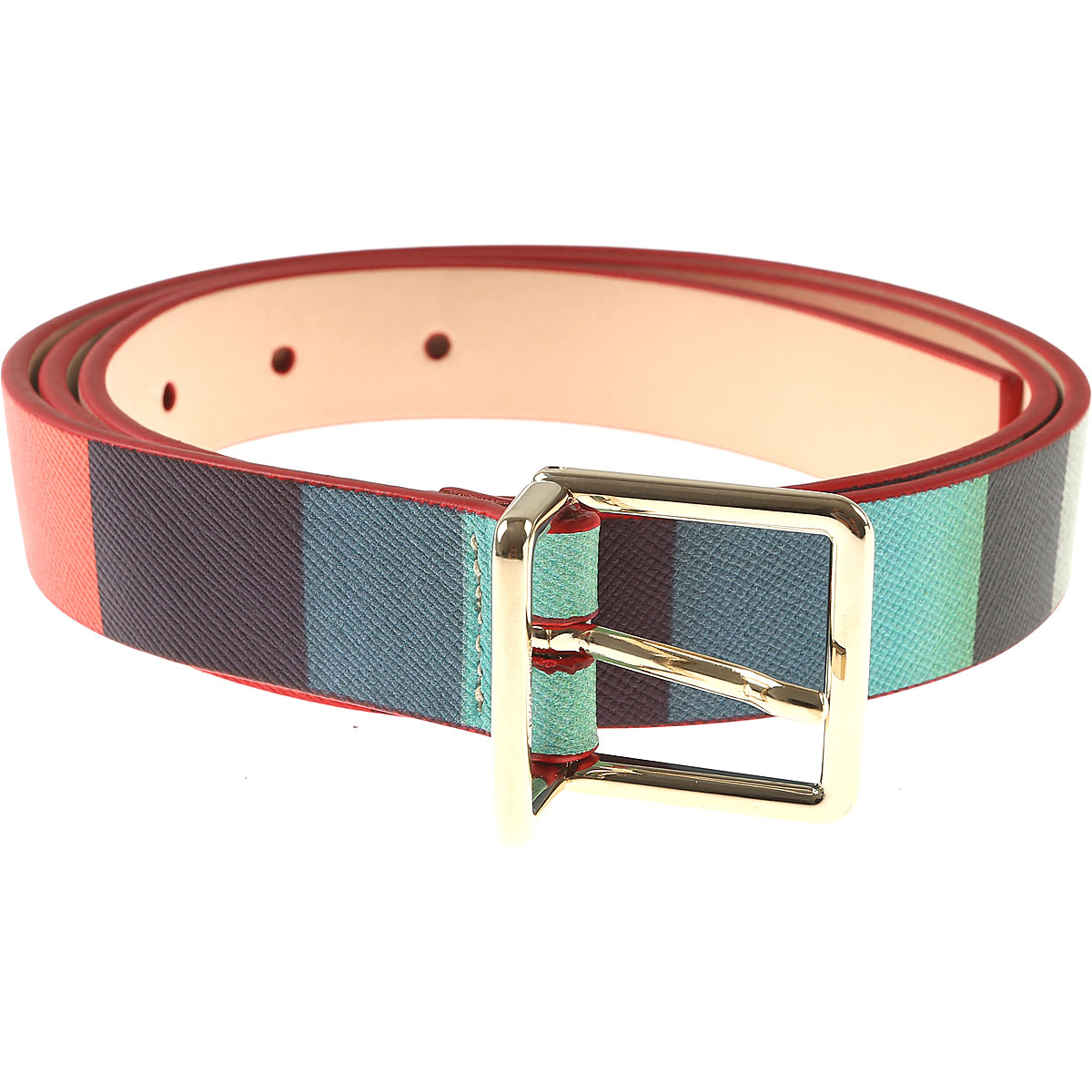 Paul Smith Womens Belts, Multicolor, Leather, 2017, 34 inches - 85 cm 36 inches - 90 cm 38 inches - 95 cm