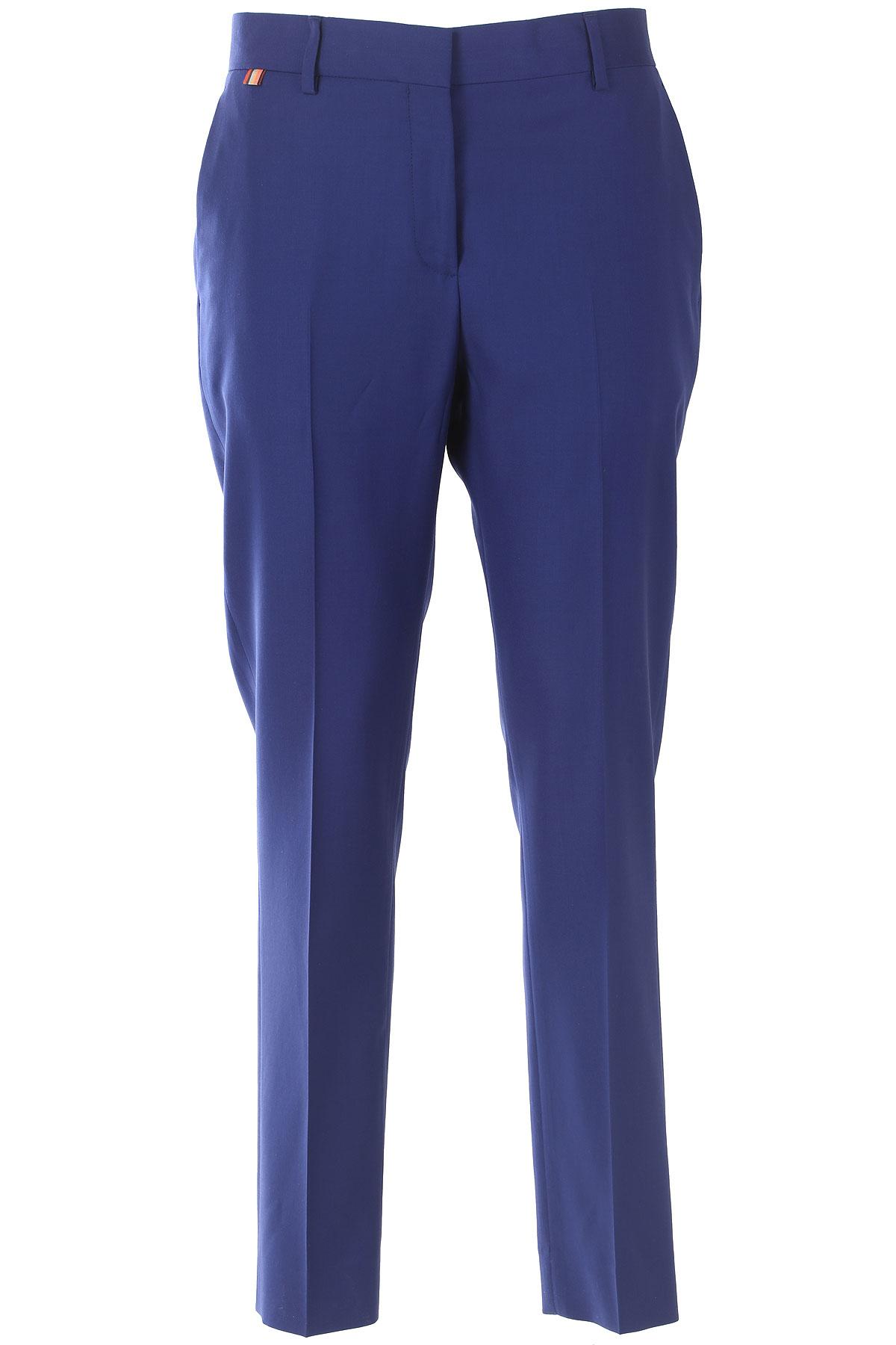 Paul Smith Pantalon Femme Pas cher en Soldes, Bleu, Coton, 2017, 40 44 46
