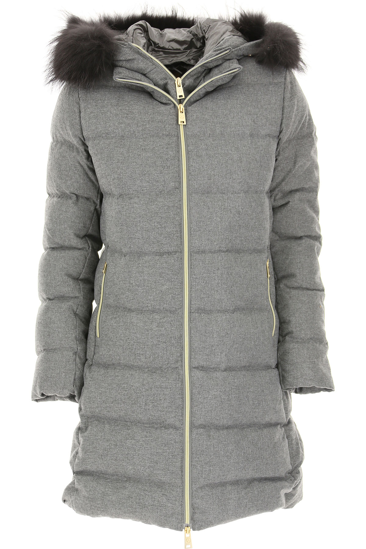 People of Shibuya Down Jacket for Women, Puffer Ski Jacket On Sale, Light Grey, polyester, 2019, 10 4 6 8